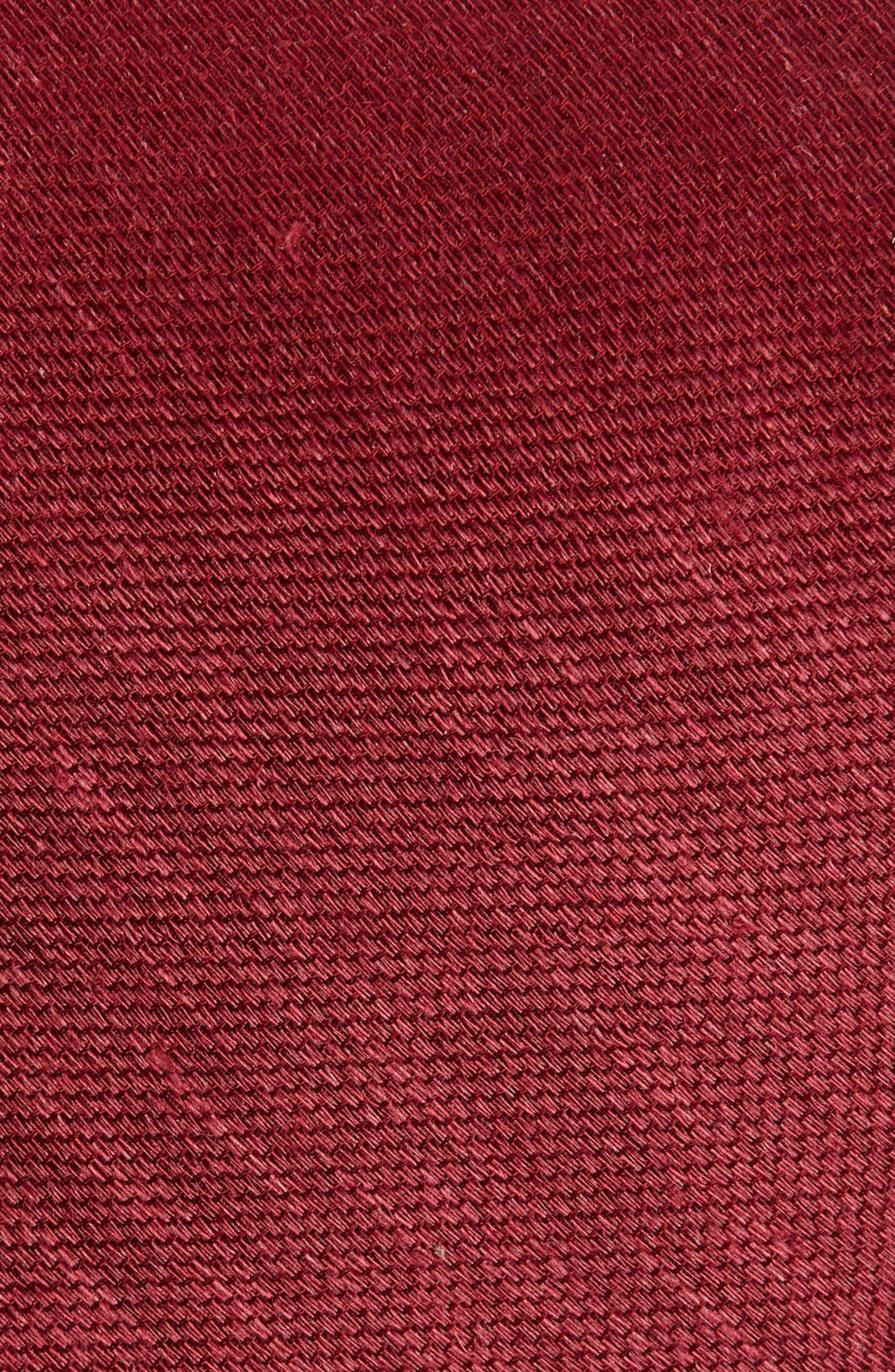 Jet Set Solid Silk & Linen Tie,                             Alternate thumbnail 2, color,                             930