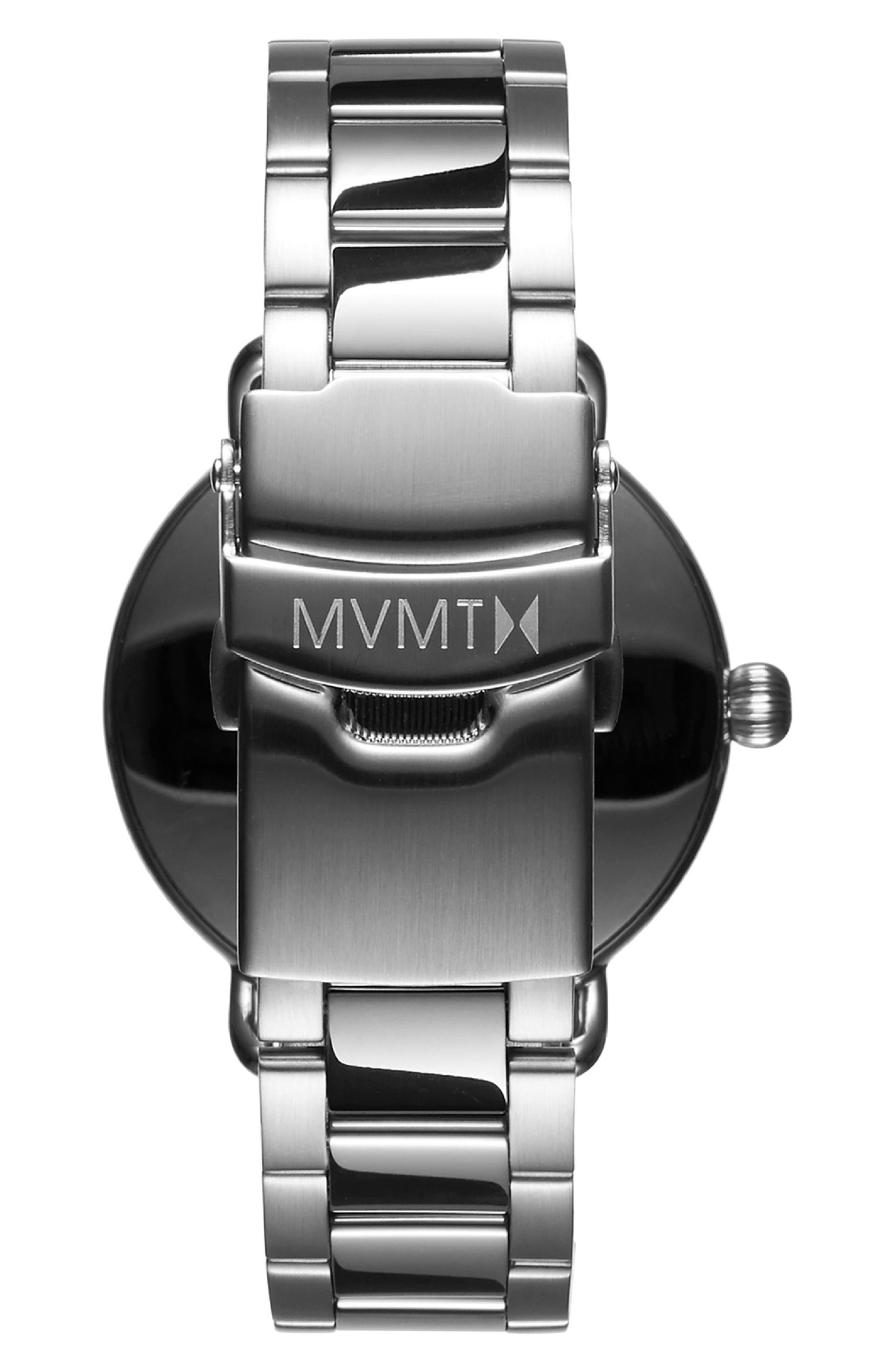 Bloom Bracelet Watch, 36mm,                             Alternate thumbnail 3, color,                             SILVER/ ROSE GOLD/ SILVER
