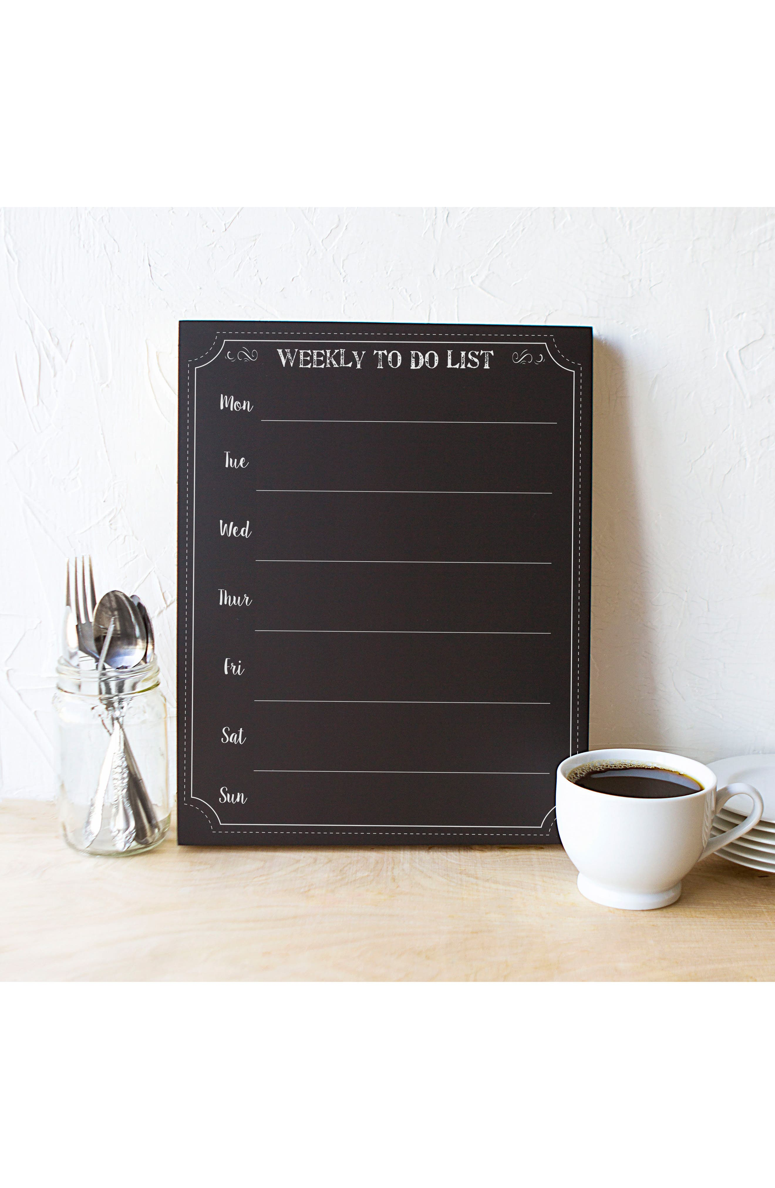 Cathy's Concept's Weekly Organizer Chalkboard,                             Alternate thumbnail 5, color,                             001