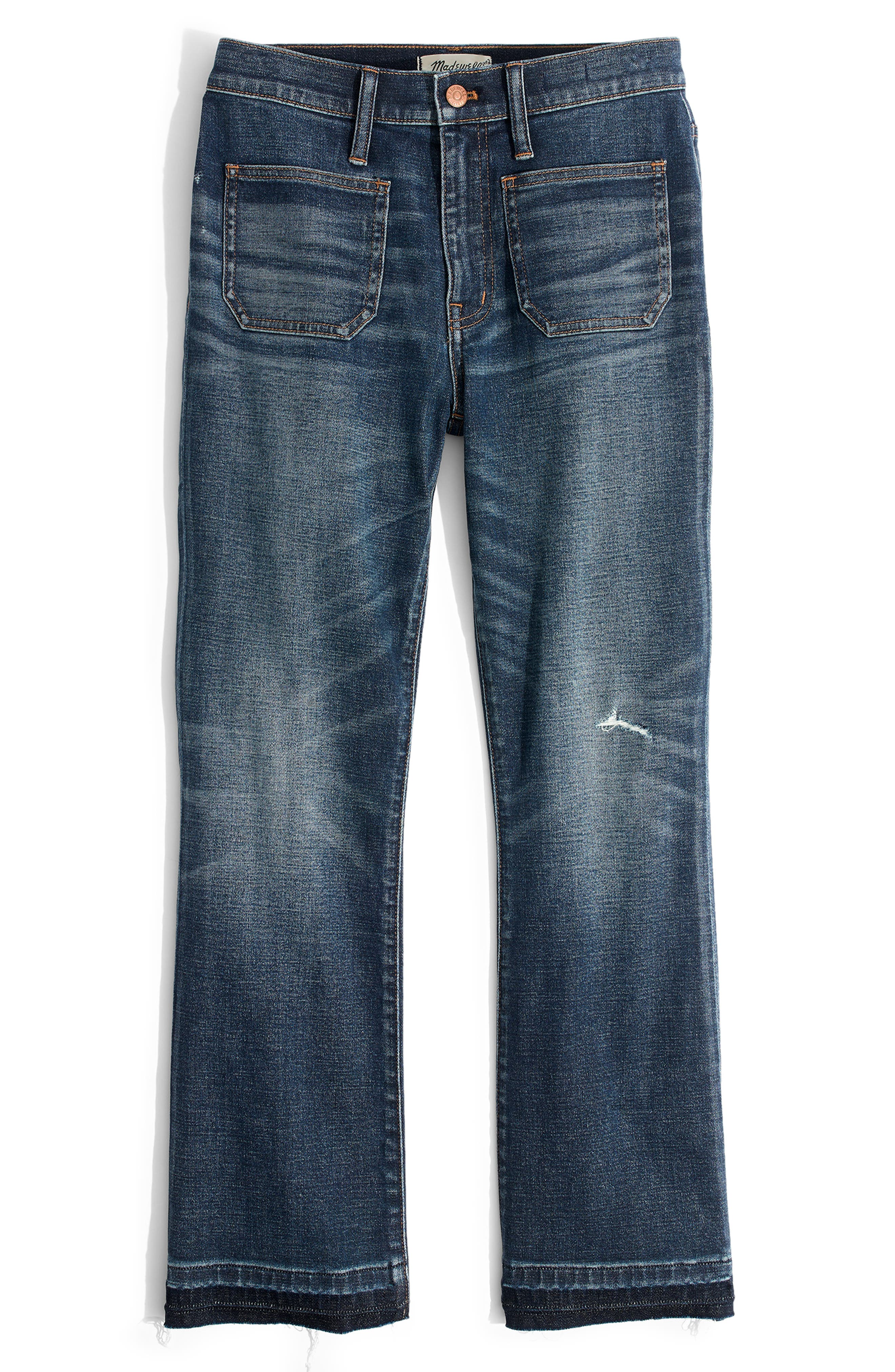 Cali Patch Pocket High Waist Demi Boot Jeans,                             Alternate thumbnail 5, color,                             DERMOTT