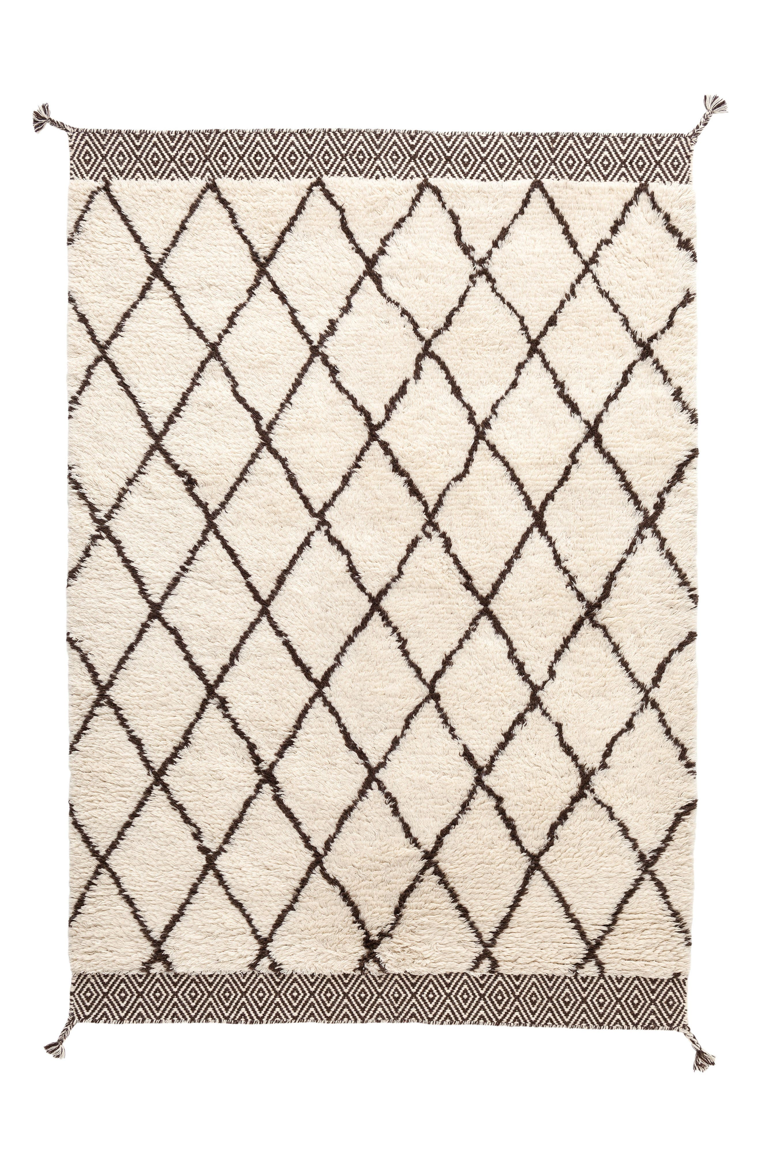 Geo Print Wool Rug,                         Main,                         color, IVORY/ GREY