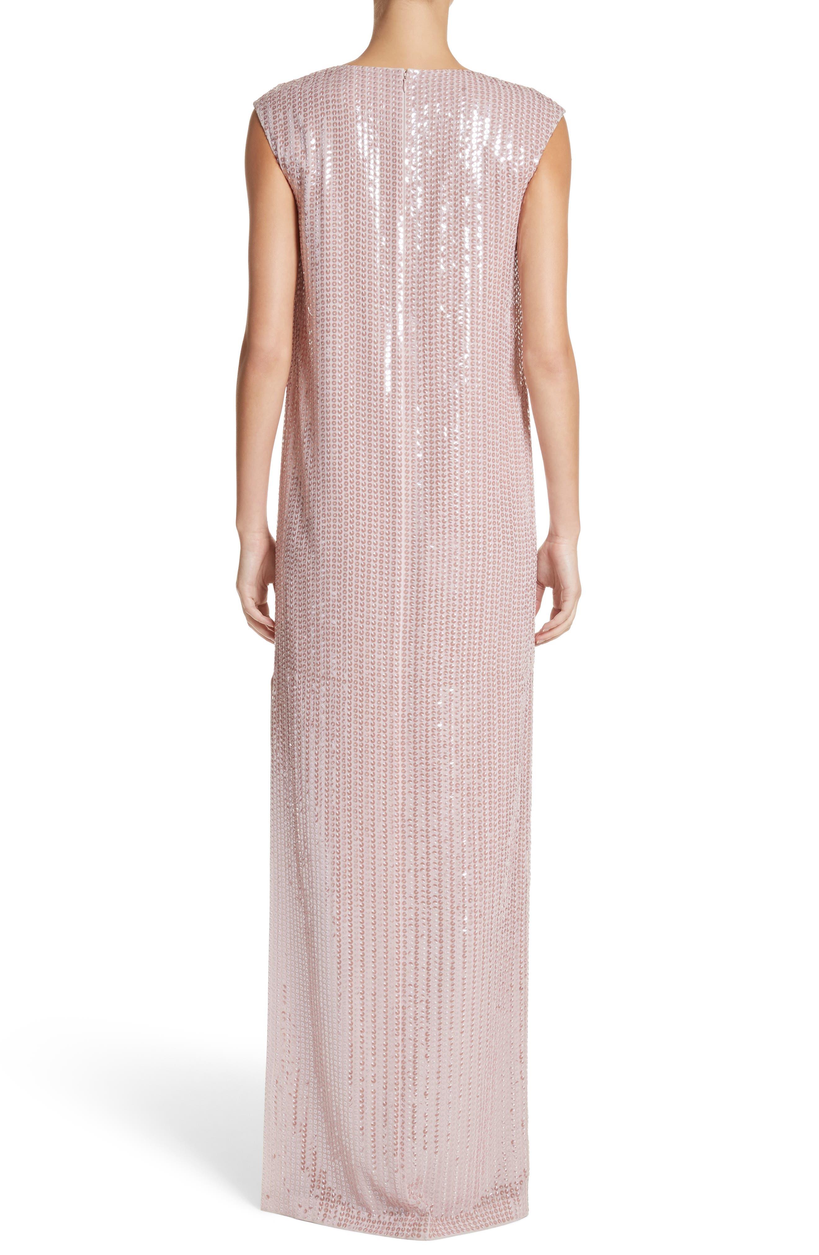 Sequin Silk Georgette Column Gown,                             Alternate thumbnail 2, color,                             680