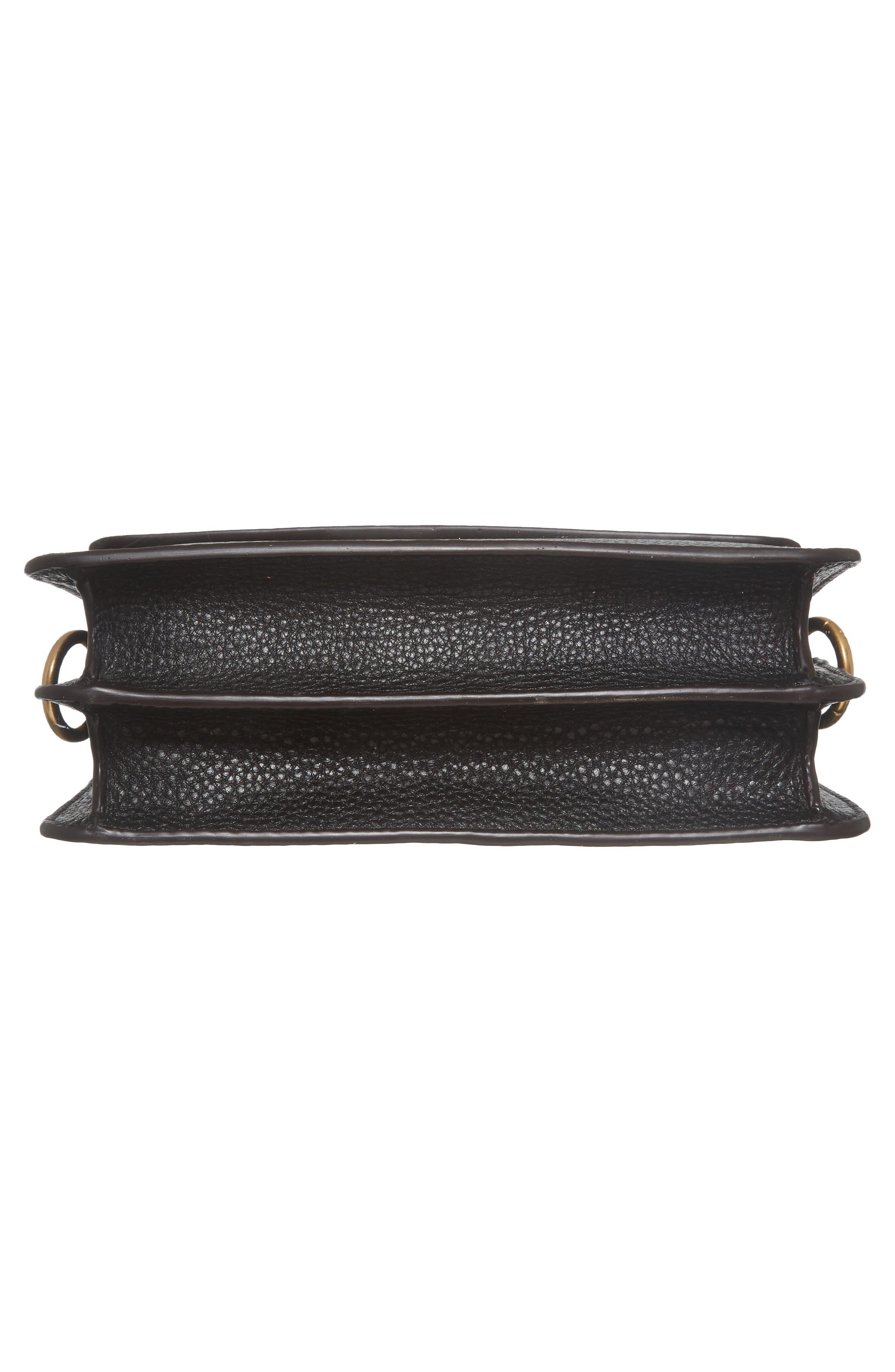 McGraw Leather Shoulder Bag,                             Alternate thumbnail 6, color,                             001