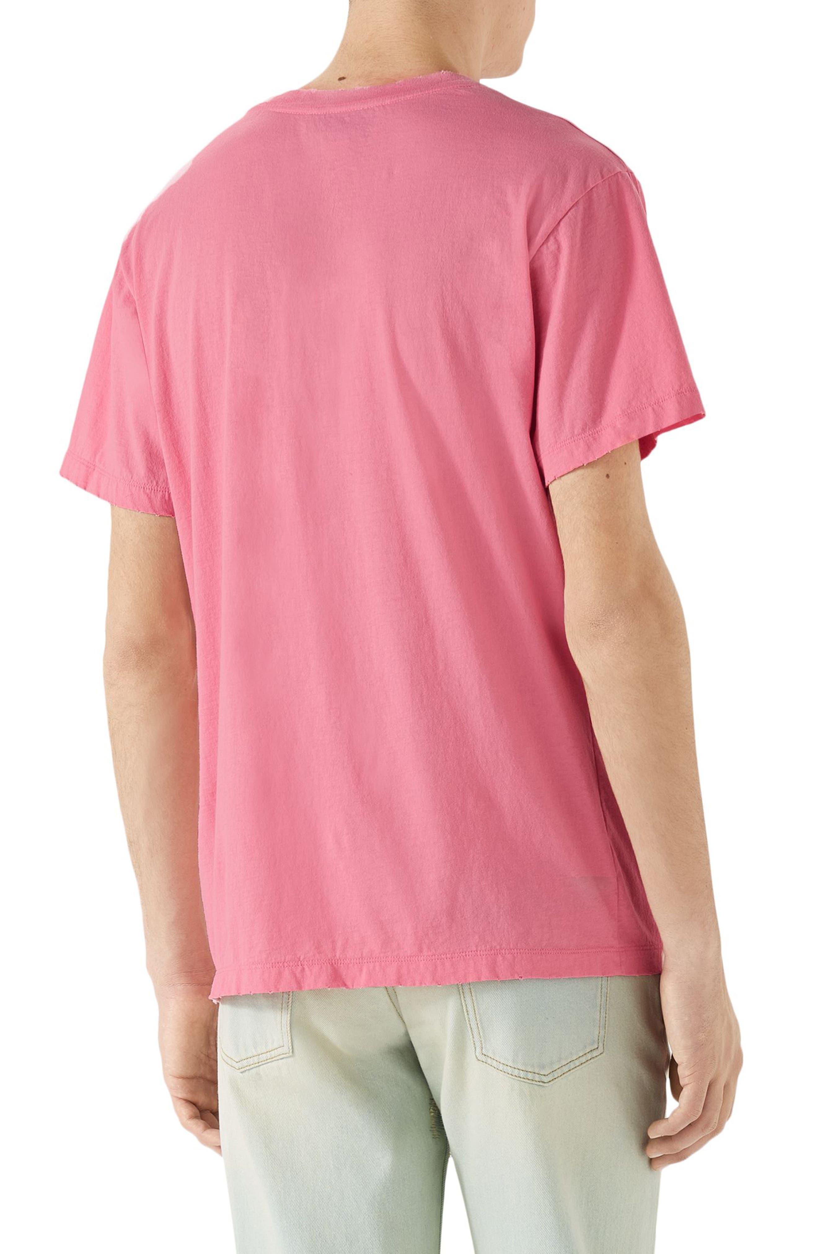 Vintage Wash Logo T-Shirt,                             Alternate thumbnail 2, color,                             PINK