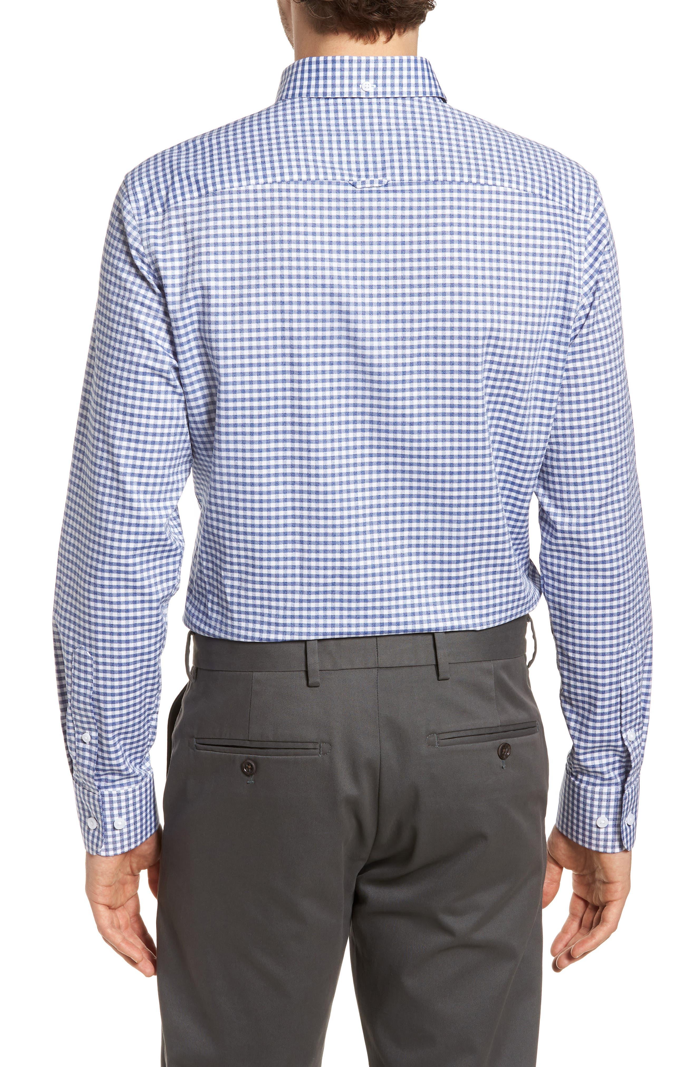 Trim Fit Check Sport Shirt,                             Alternate thumbnail 2, color,                             410