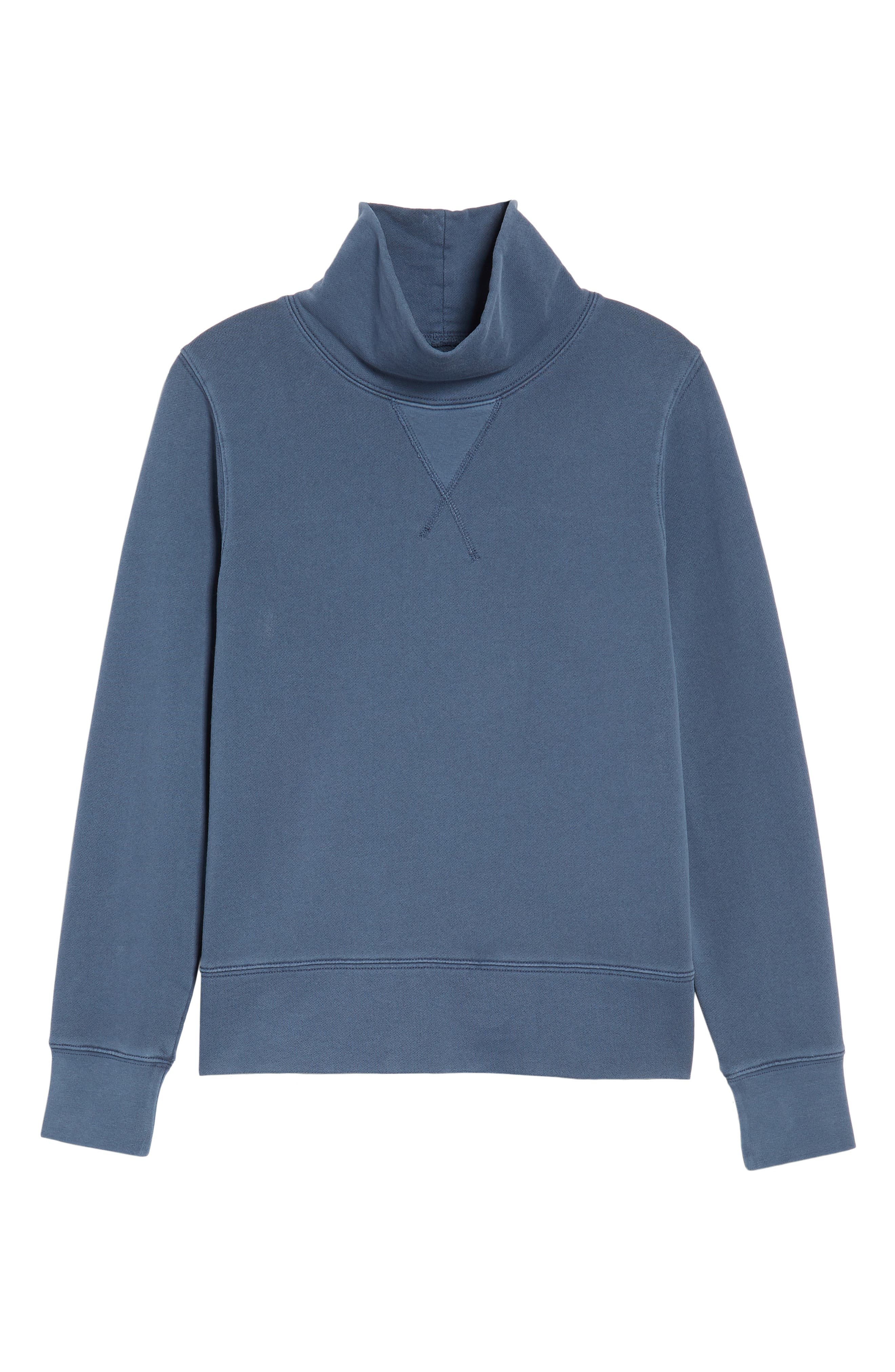 Garment Dyed Funnel Neck Sweatshirt,                             Alternate thumbnail 22, color,