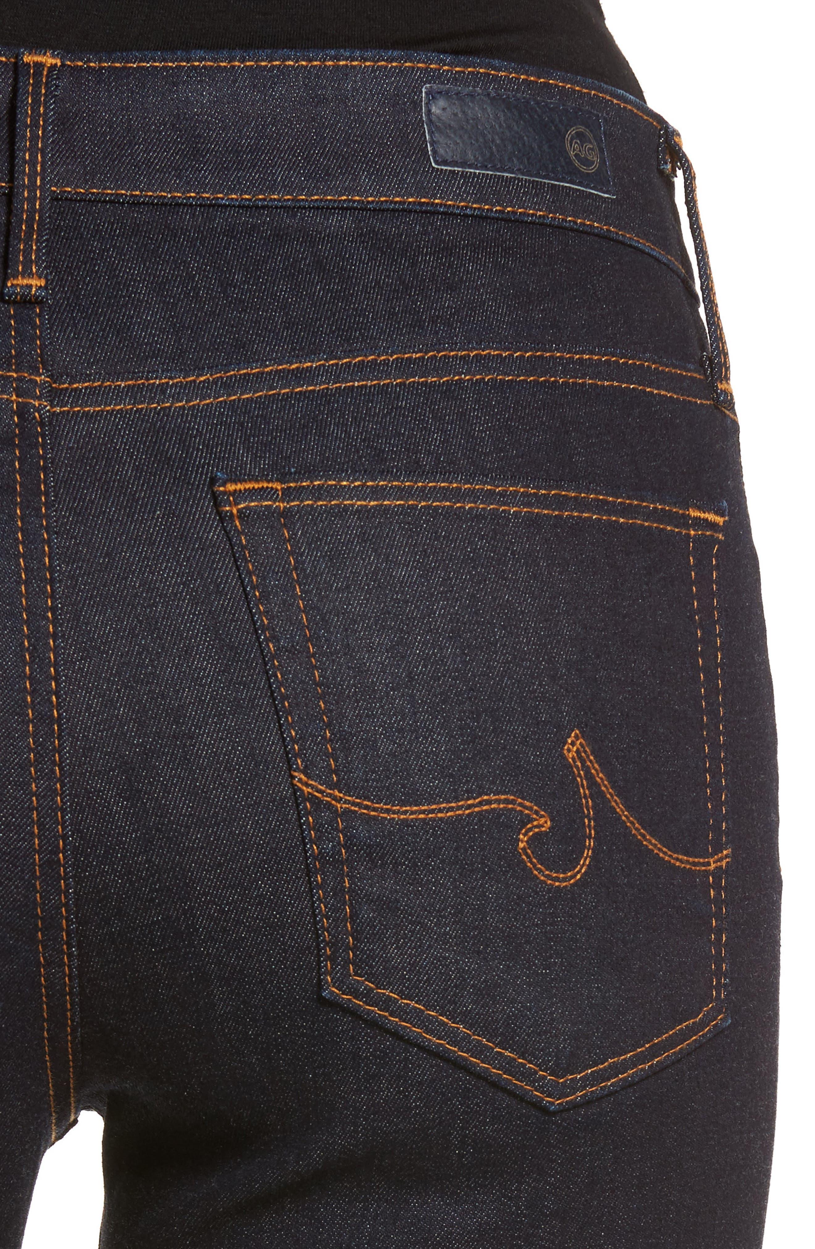The Farrah Ankle Skinny Jeans,                             Alternate thumbnail 4, color,                             INDIGO SPRING