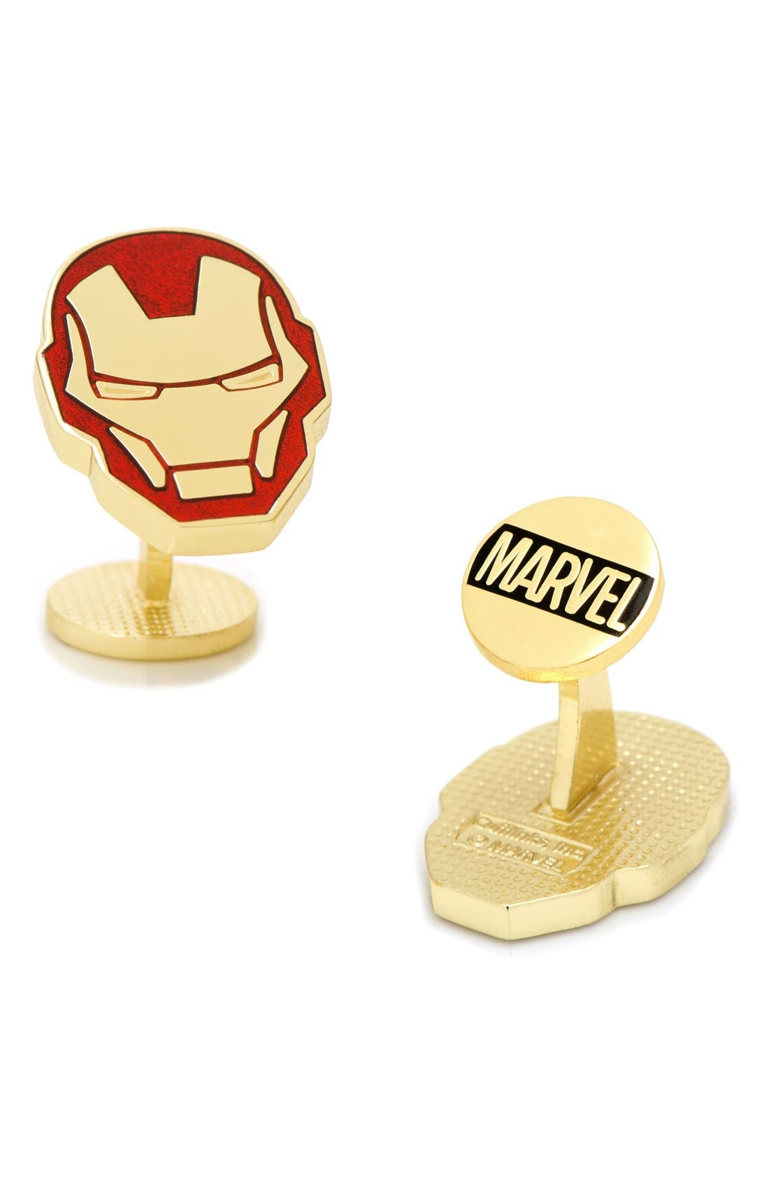 Marvel Iron Man Cuff Links,                             Main thumbnail 1, color,                             RED MULTI