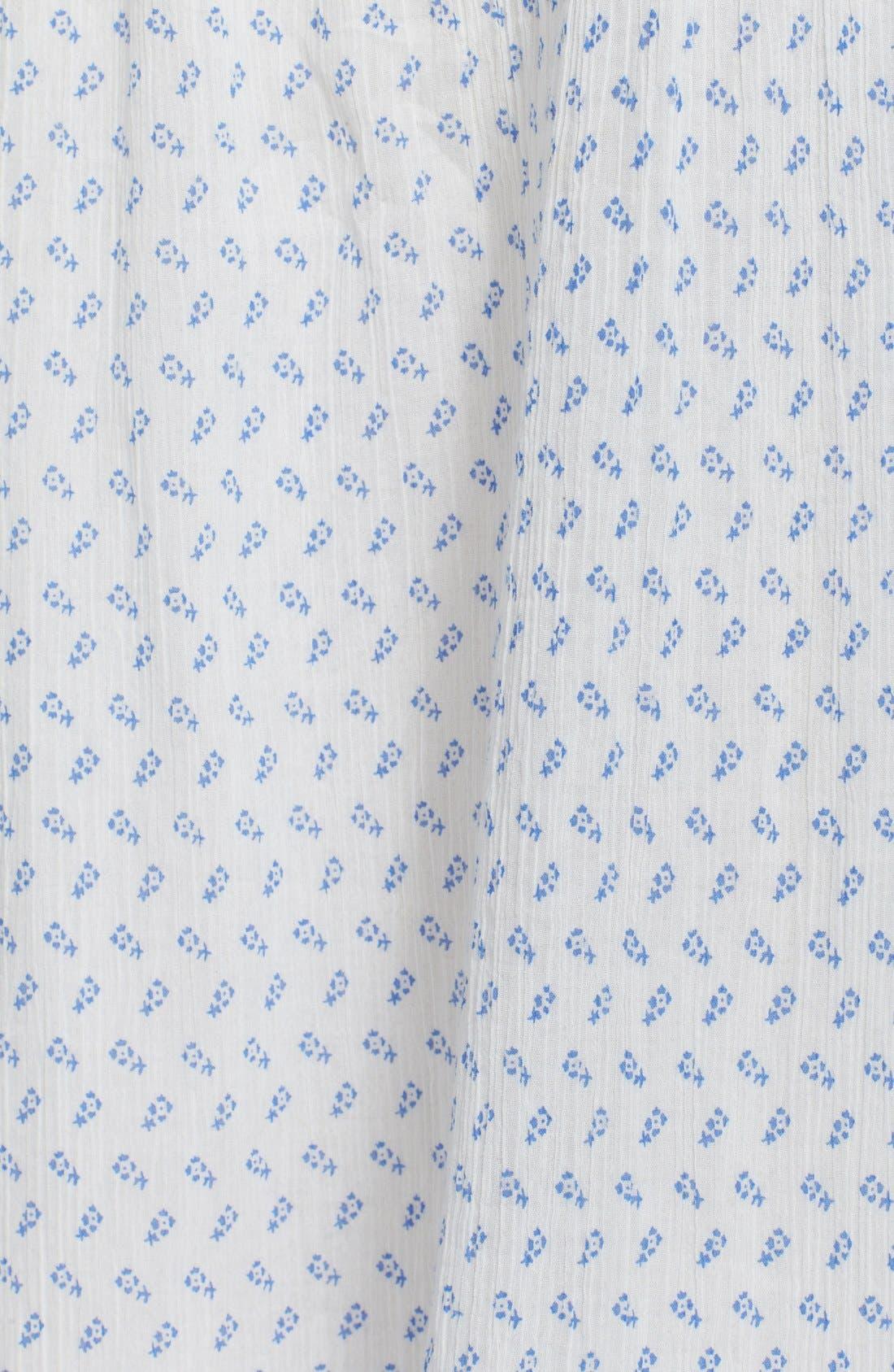 Cold Shoulder Cotton Peasant Dress,                             Alternate thumbnail 6, color,