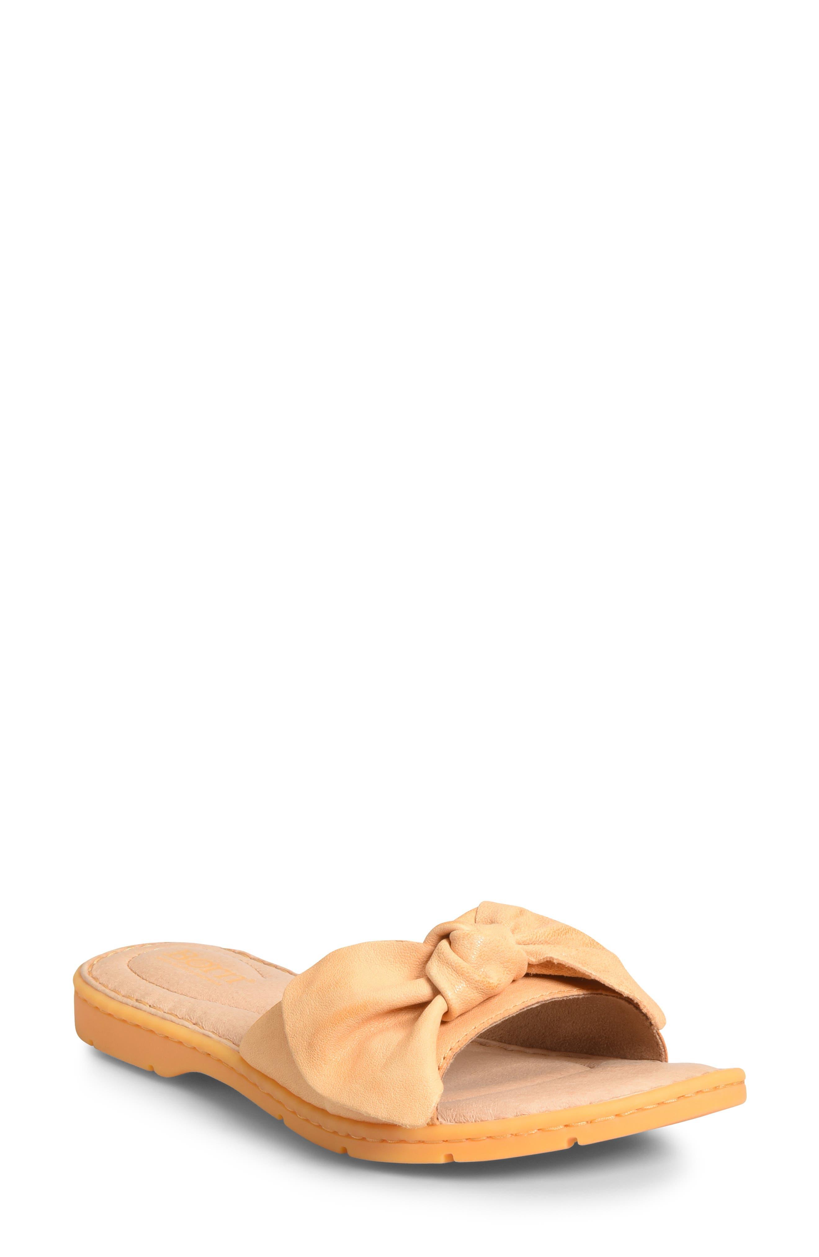 B?rn Teton Knotted Slide Sandal, Orange
