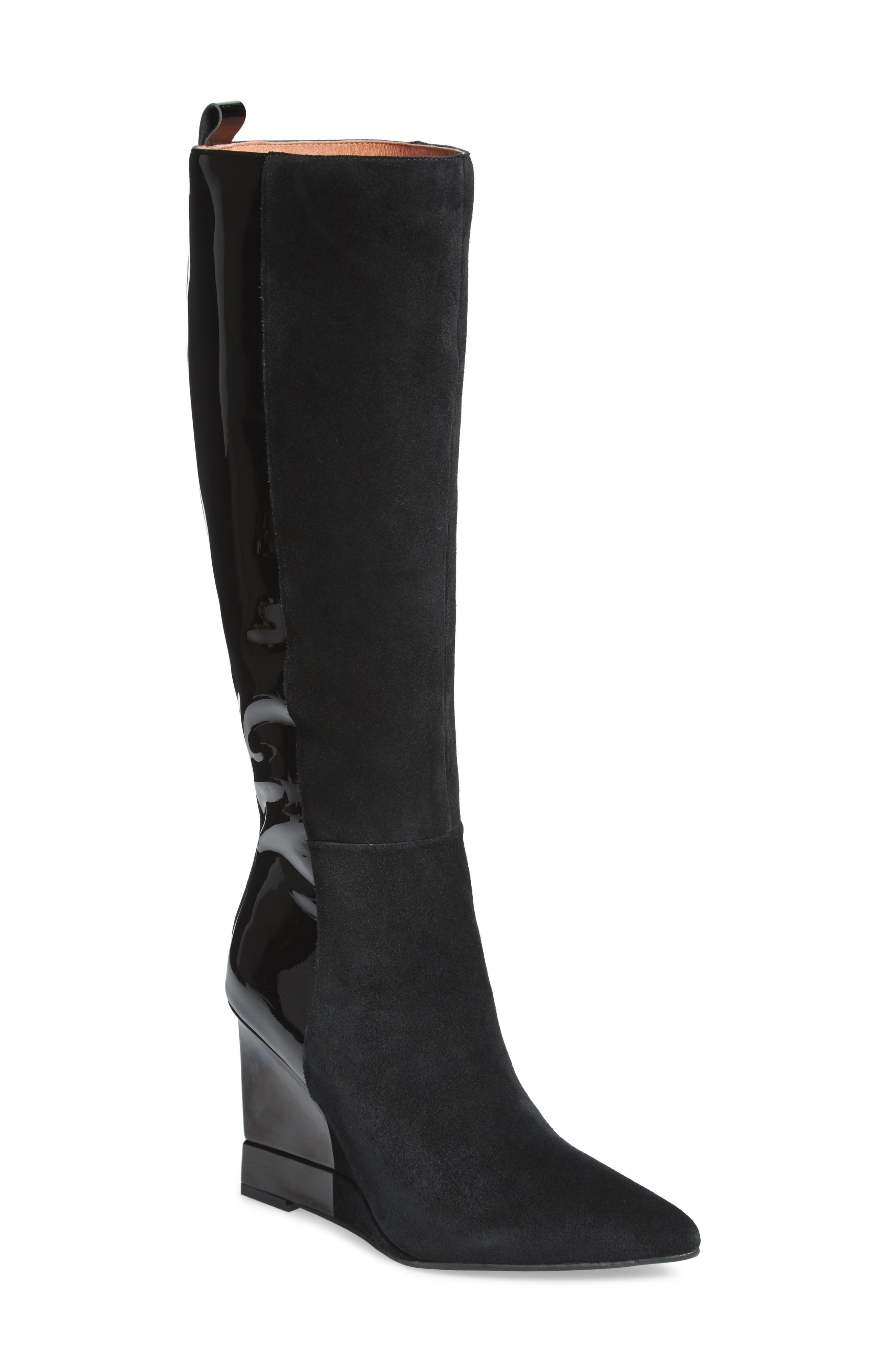 Rosalva Knee High Wedge Boot,                             Main thumbnail 1, color,