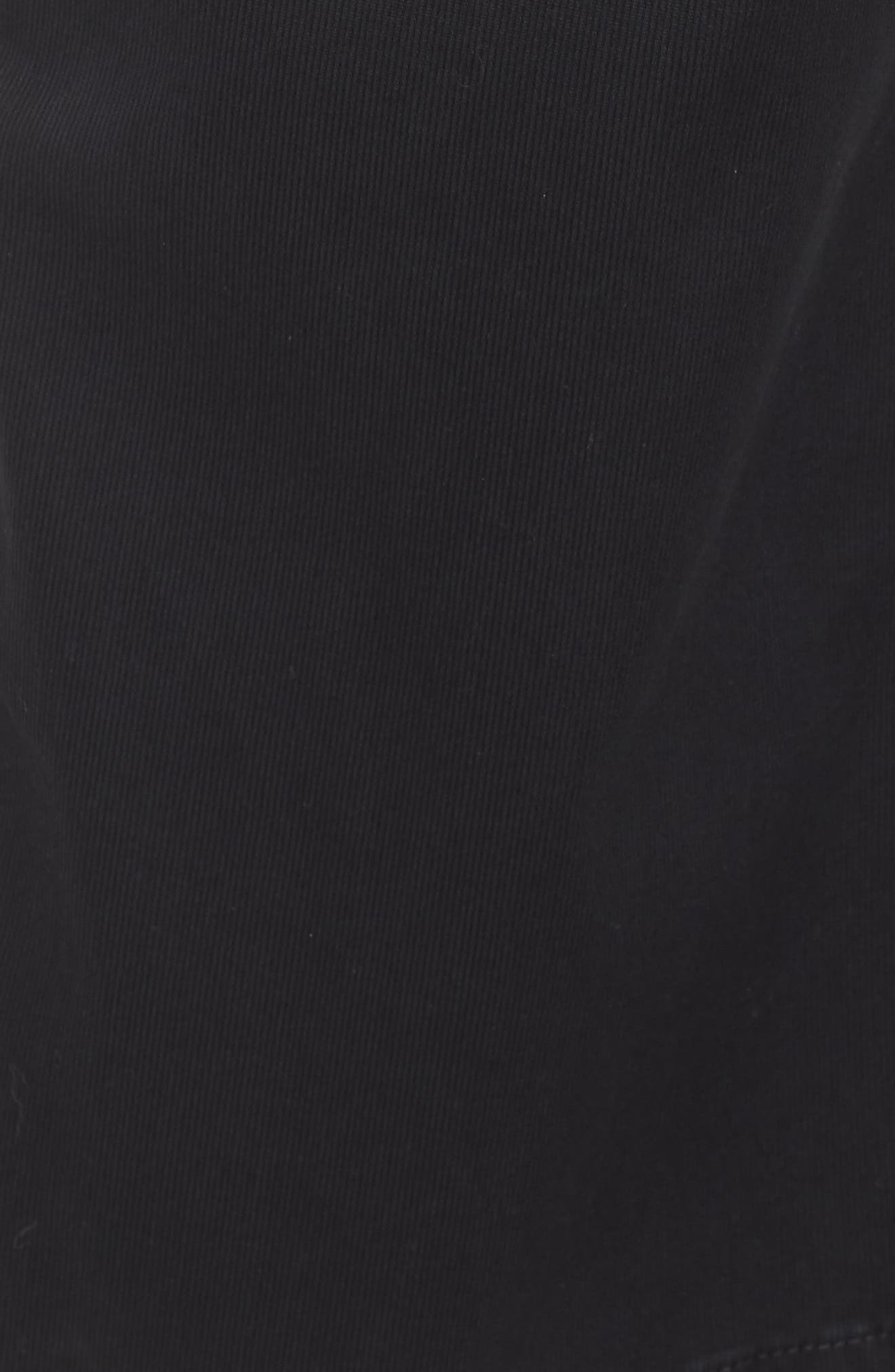 Etta High Waist Crop Wide Leg Jeans,                             Alternate thumbnail 6, color,                             SULFUR SUPER BLACK