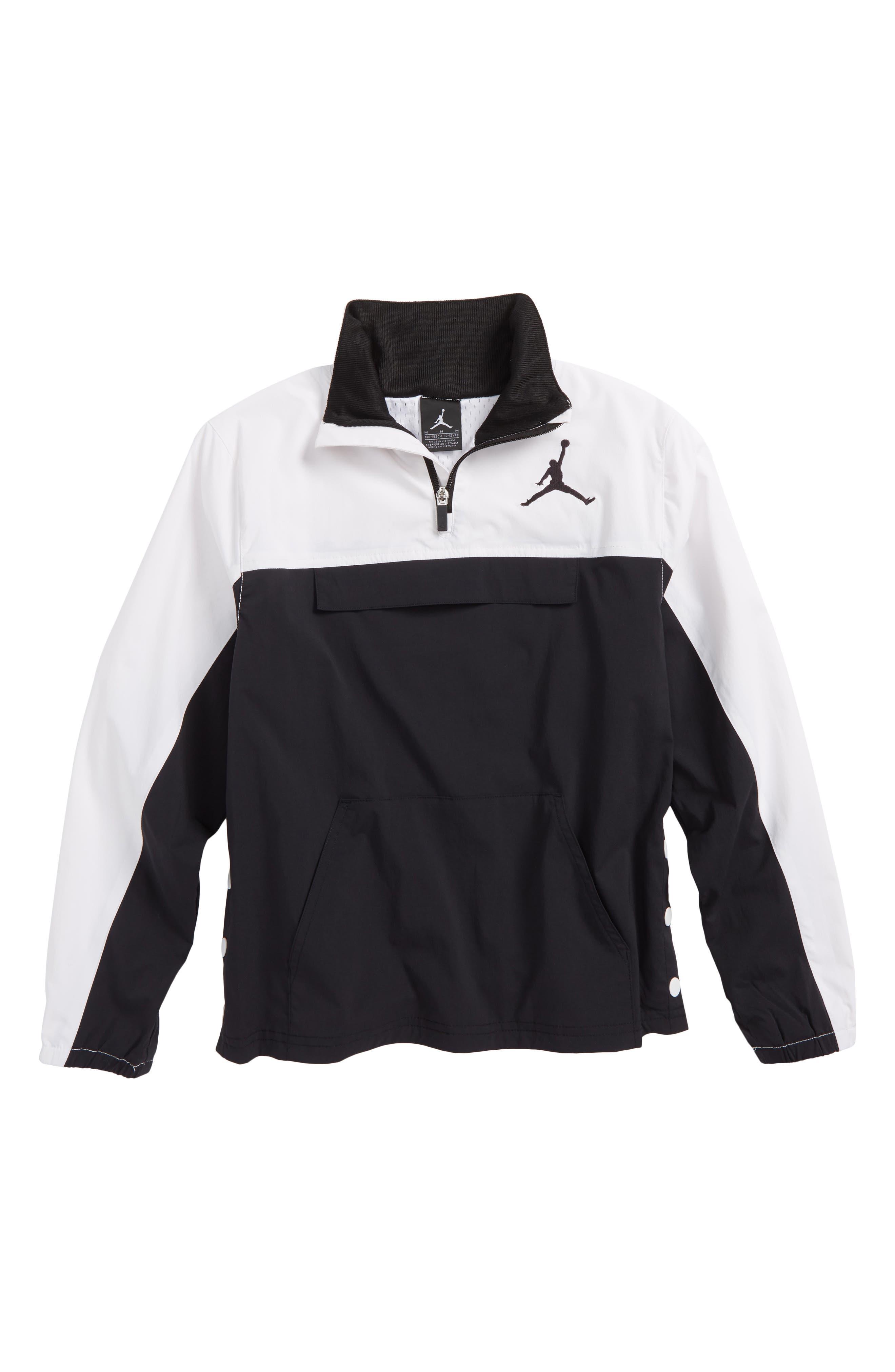 Jordan AJ '90s Popover Quarter Zip Pullover,                             Main thumbnail 1, color,                             001