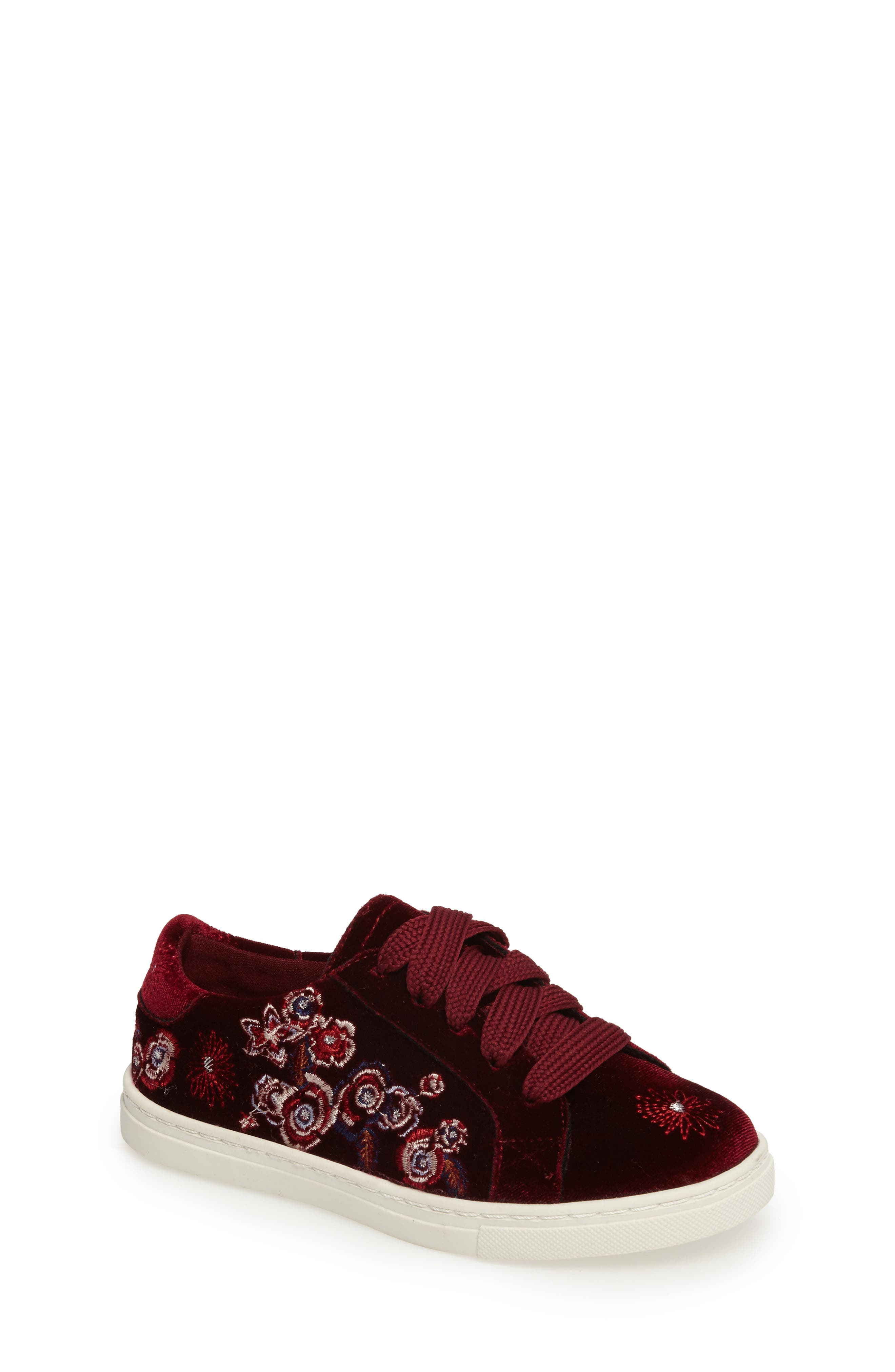 Zolly Floral Embroidered Sneaker,                             Main thumbnail 1, color,