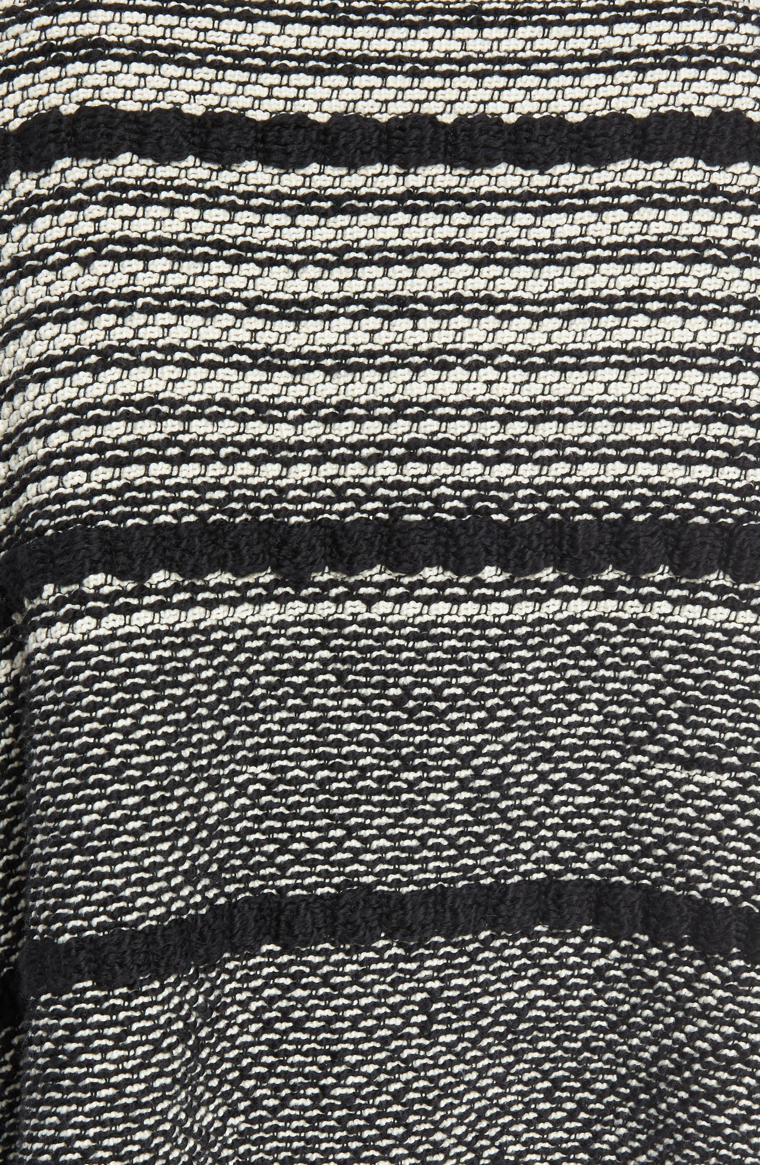 Fringe Trim Stripe Cardigan,                             Alternate thumbnail 5, color,                             020