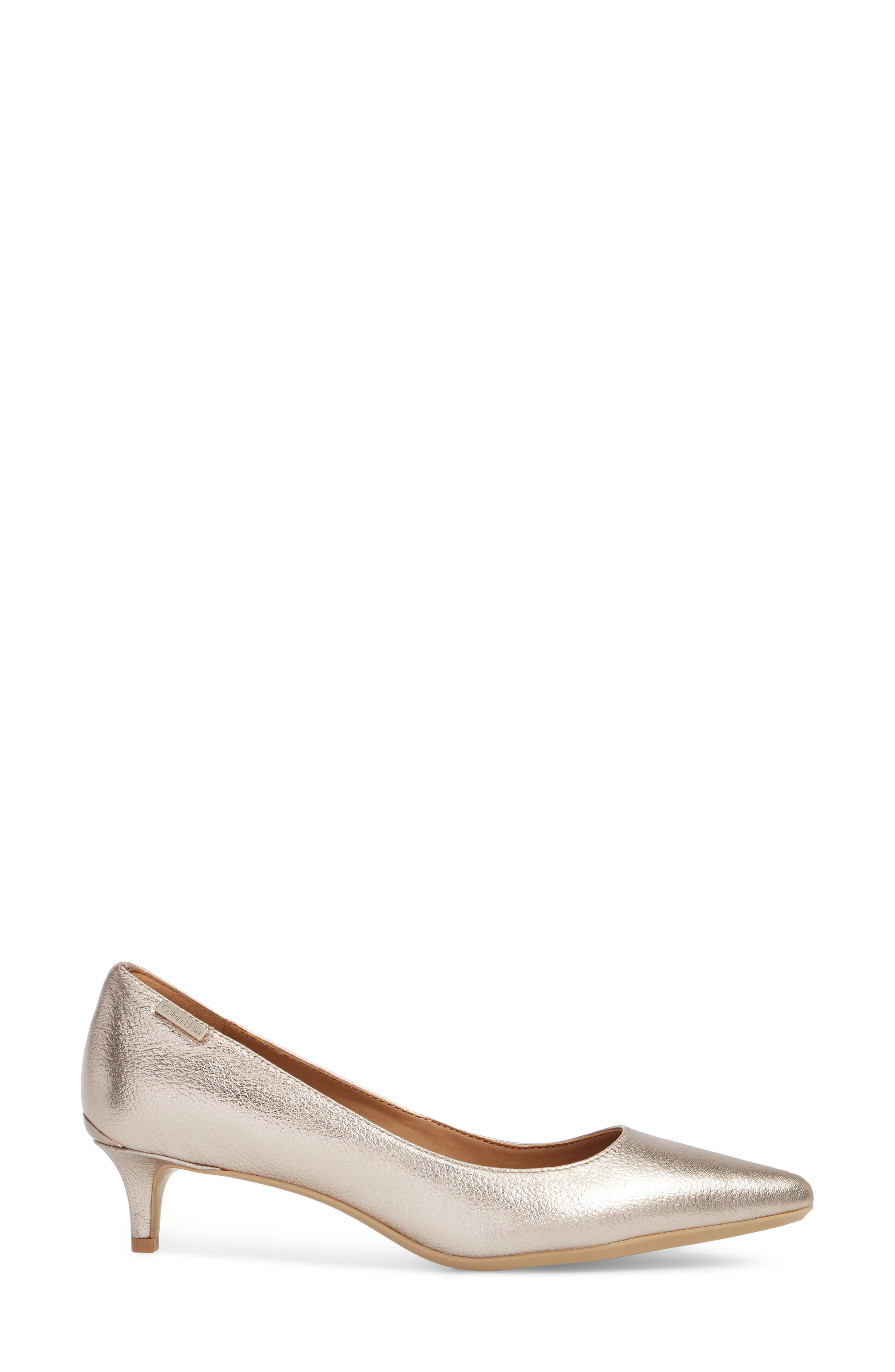 Gabrianna Pump,                             Alternate thumbnail 3, color,                             SOFT PLATINUM LEATHER