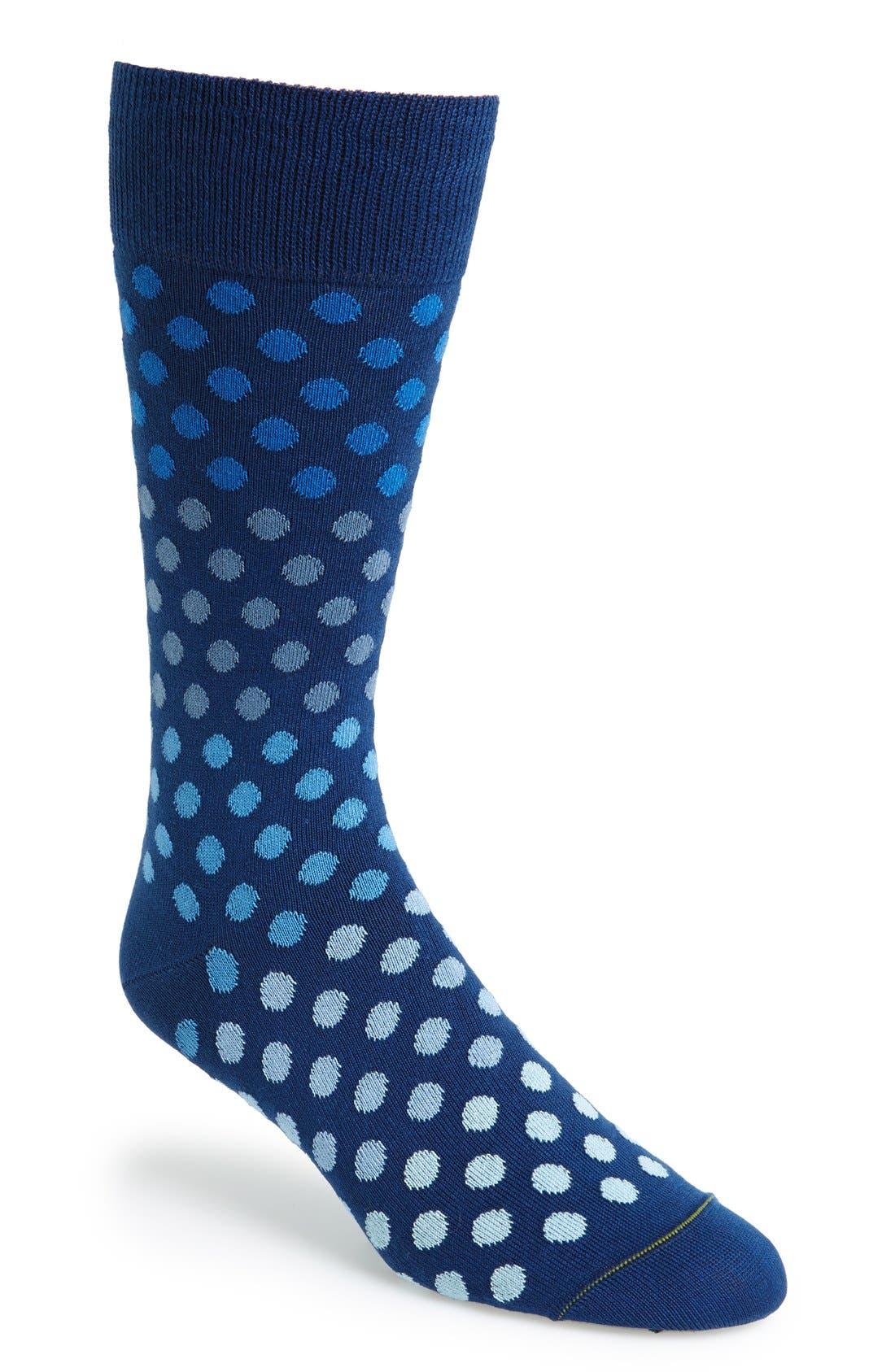 'Dot Dégradé' Socks,                             Main thumbnail 2, color,