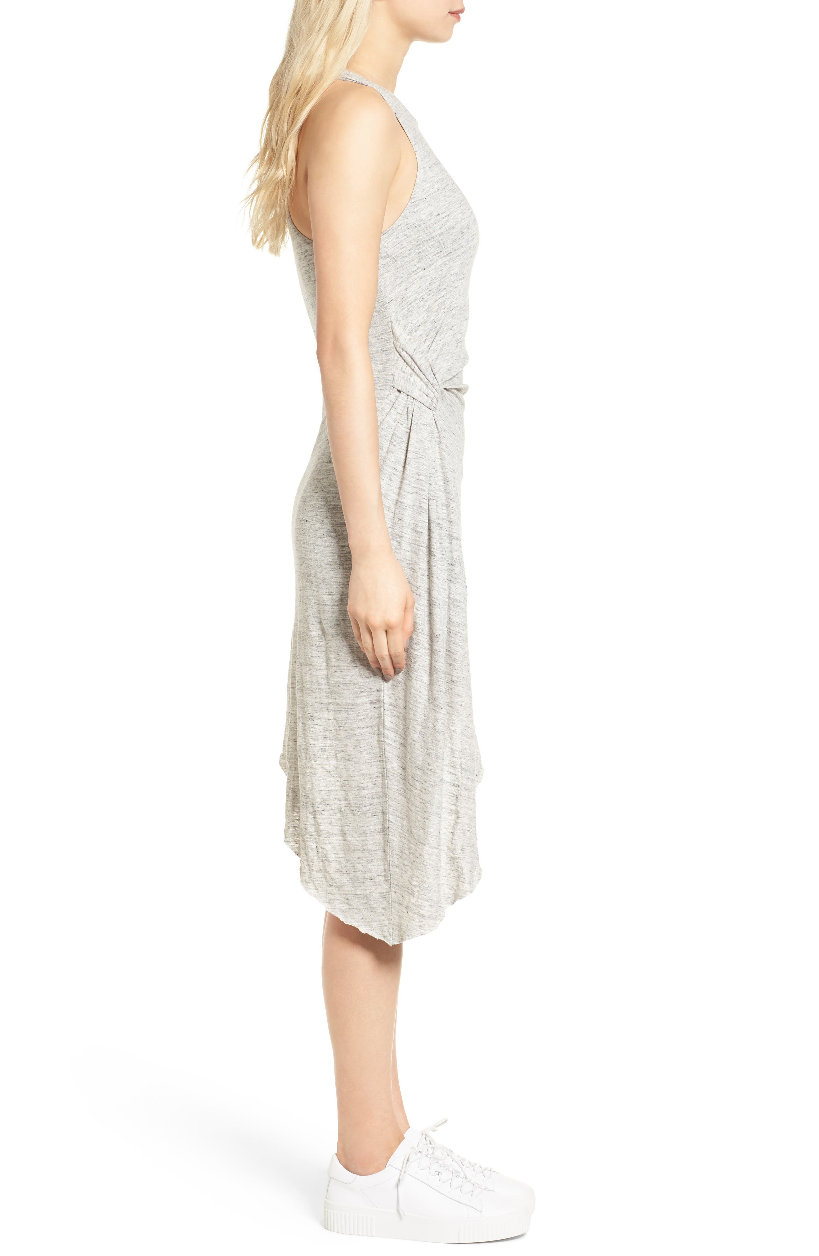 Asymmetrical Ruched Dress,                             Alternate thumbnail 3, color,                             051