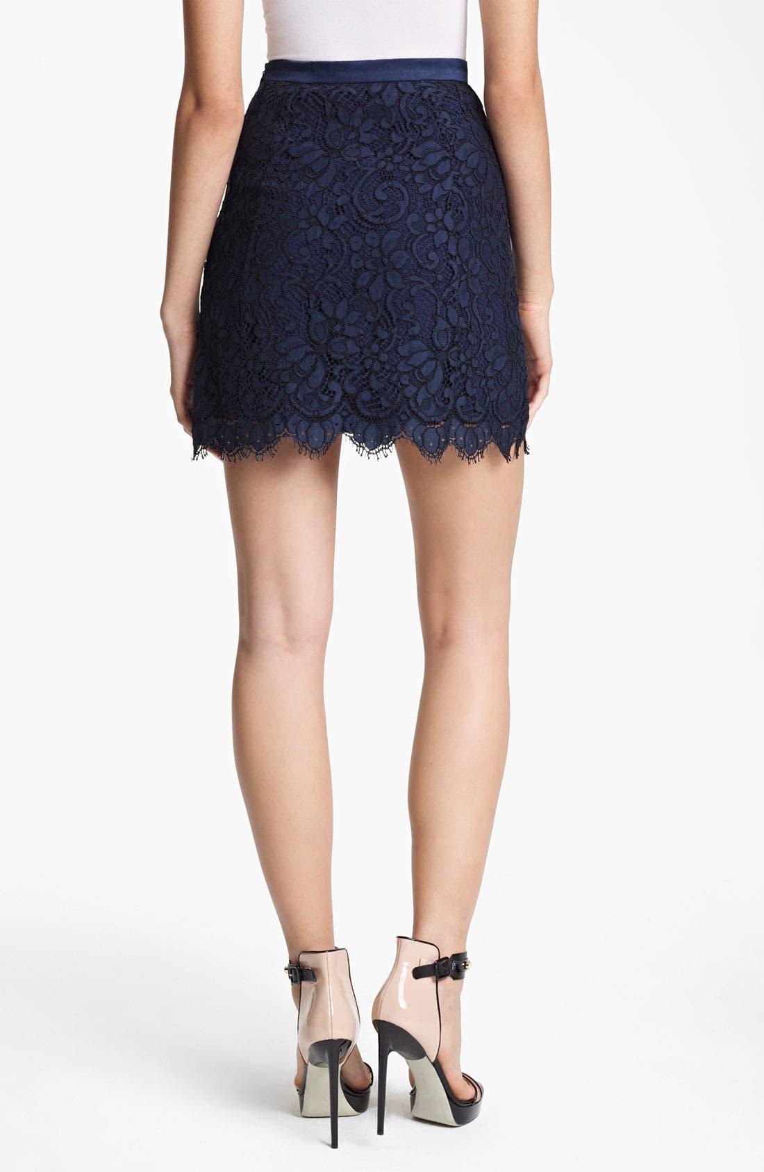 Patch Pocket Lace Skirt,                             Alternate thumbnail 3, color,                             410