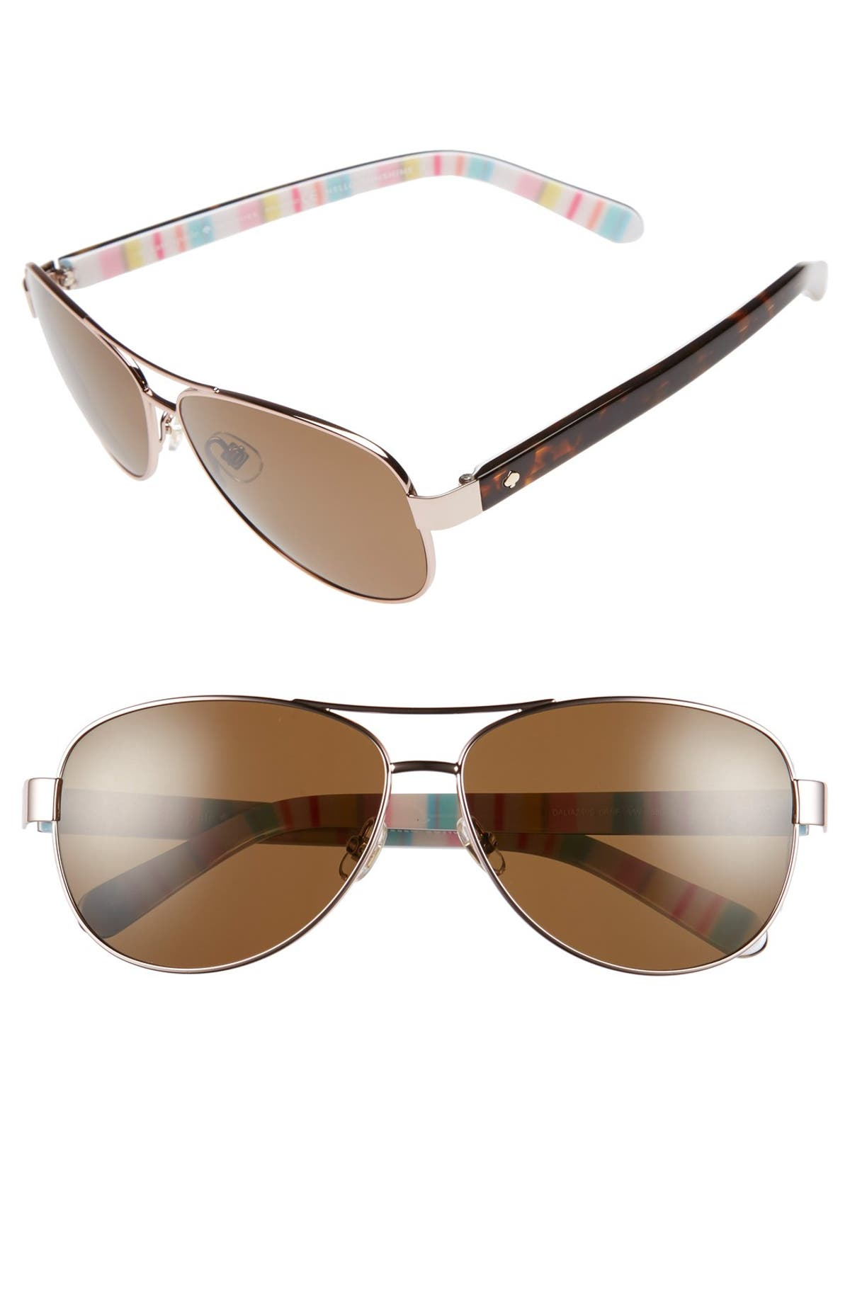 5e7fd2f494 kate spade new york  dalia  58mm polarized aviator sunglasses ...