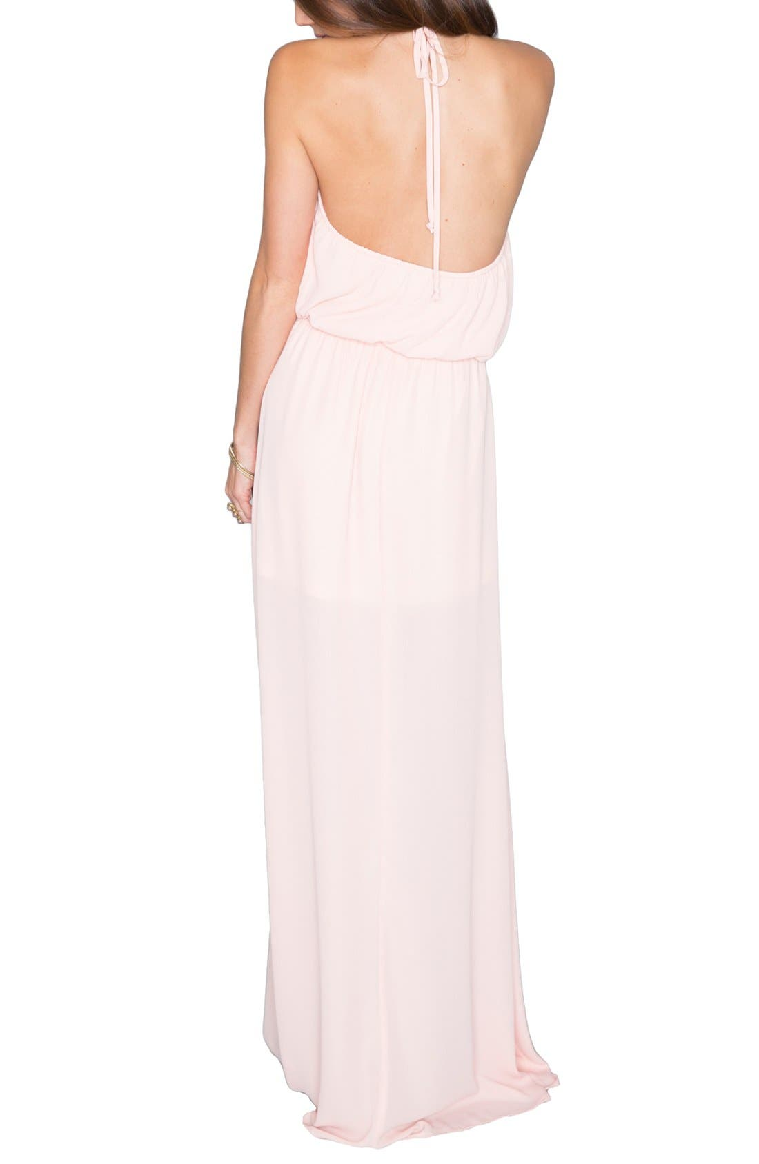 Heather Chiffon Halter Gown,                             Alternate thumbnail 23, color,