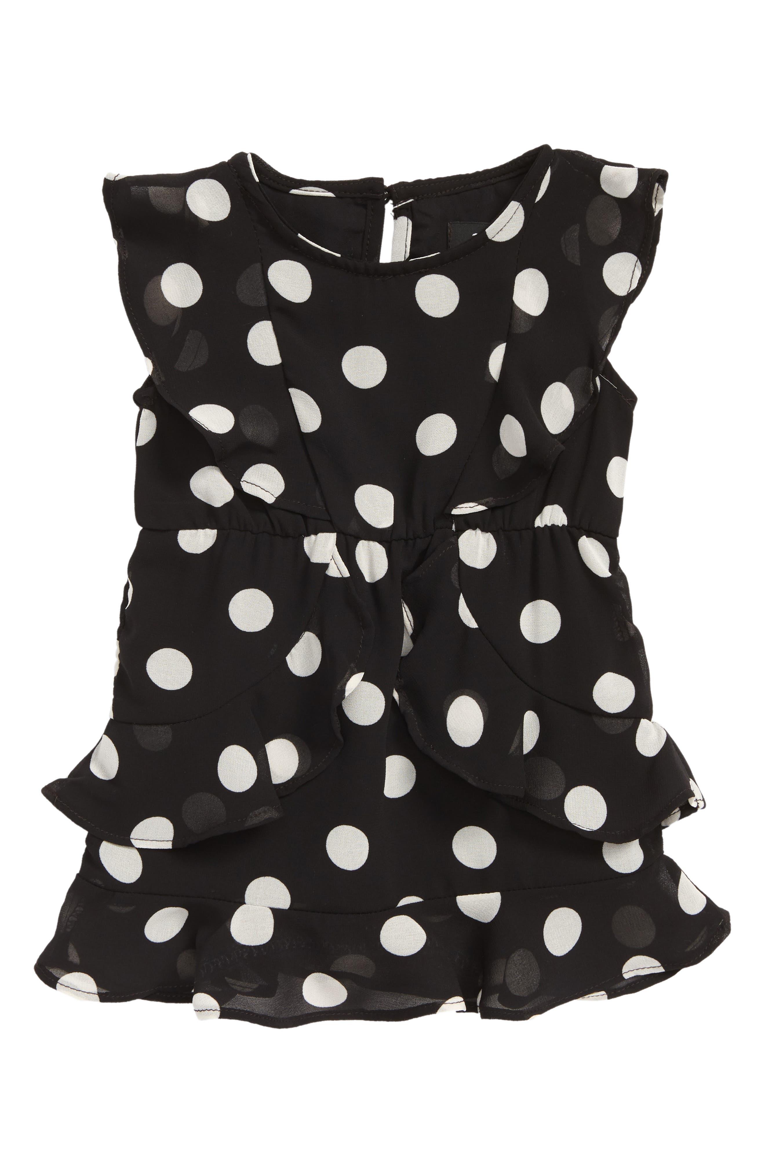 Kiera Spot Dress,                             Main thumbnail 1, color,                             001