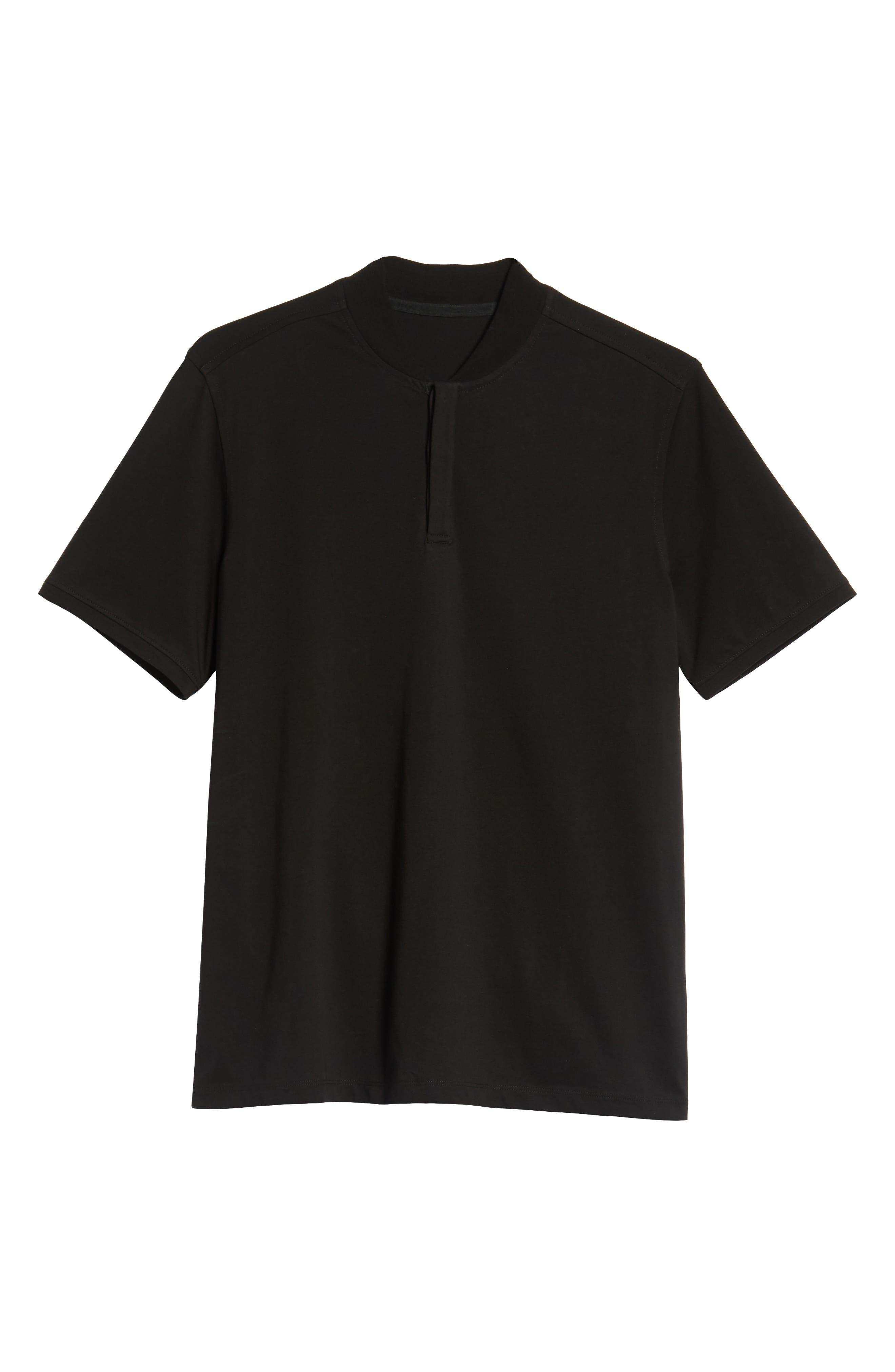 Trim Fit Henley T-Shirt,                             Alternate thumbnail 6, color,                             001