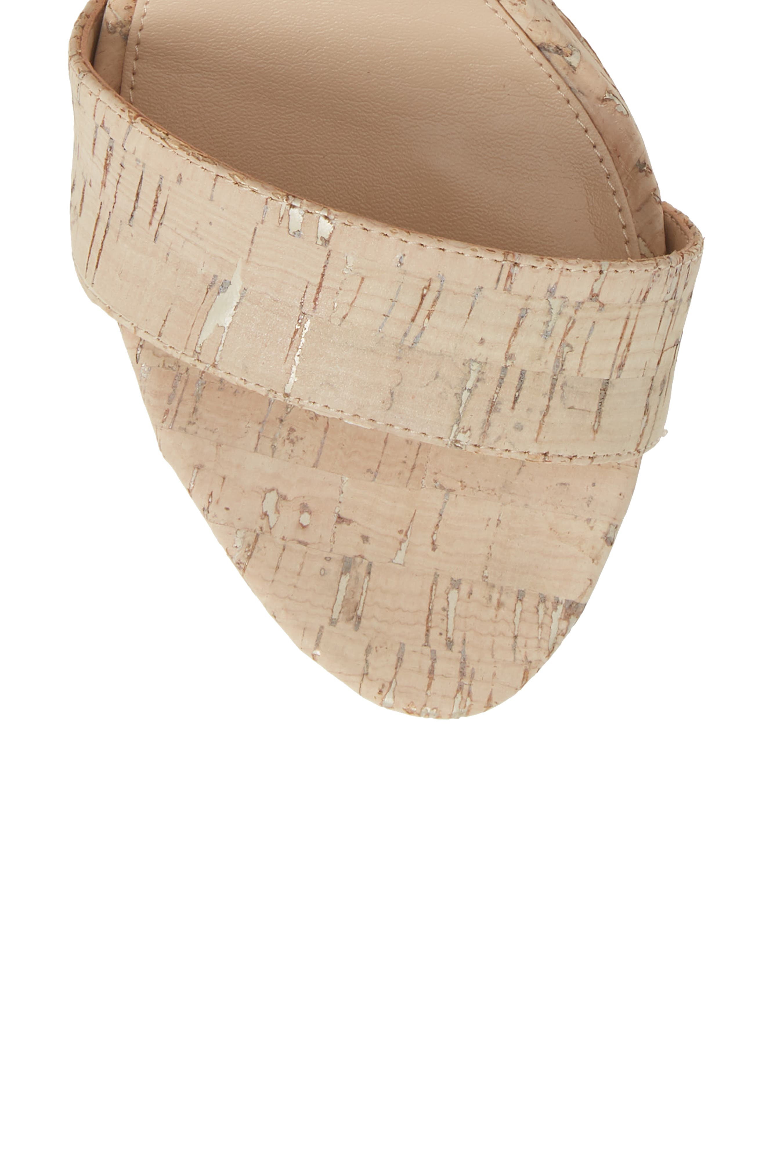 PELLE MODA,                             Palo 2 Platform Sandal,                             Alternate thumbnail 5, color,                             WHITE WASHED CORK