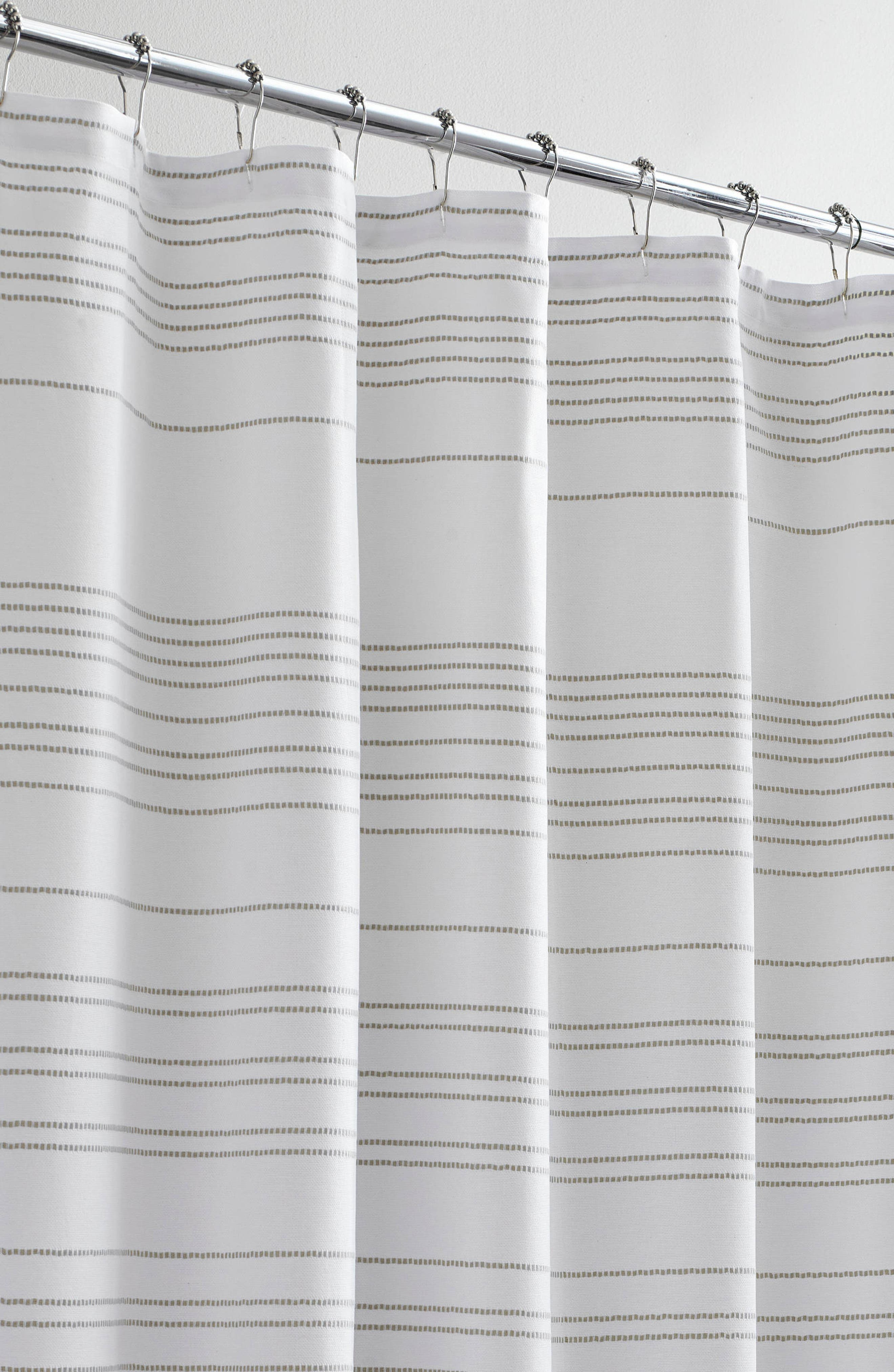 VERA WANG,                             Embroidered Stripe Shower Curtain,                             Alternate thumbnail 2, color,                             100