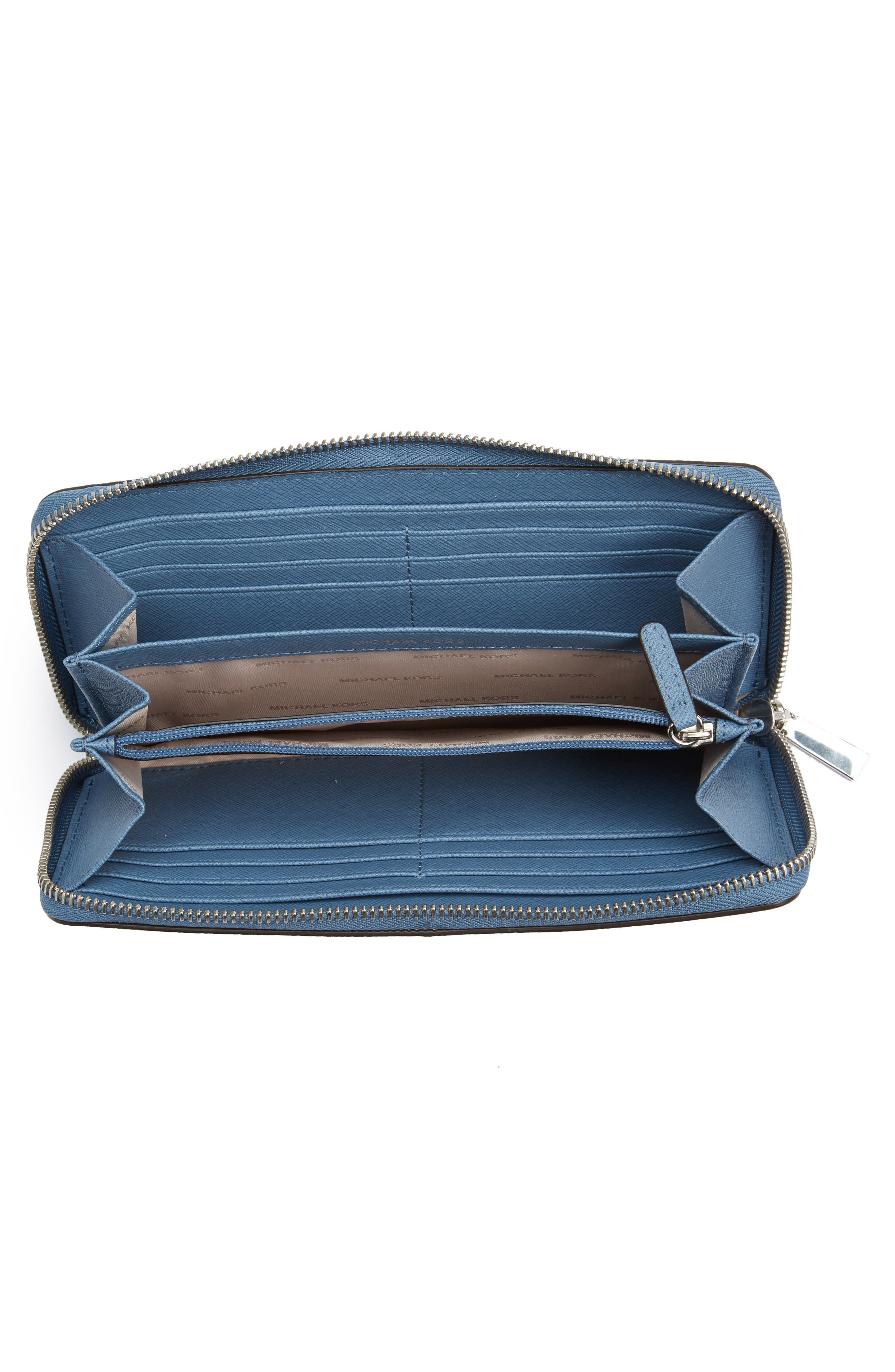 Mercer Leather Continental Wallet,                             Alternate thumbnail 5, color,
