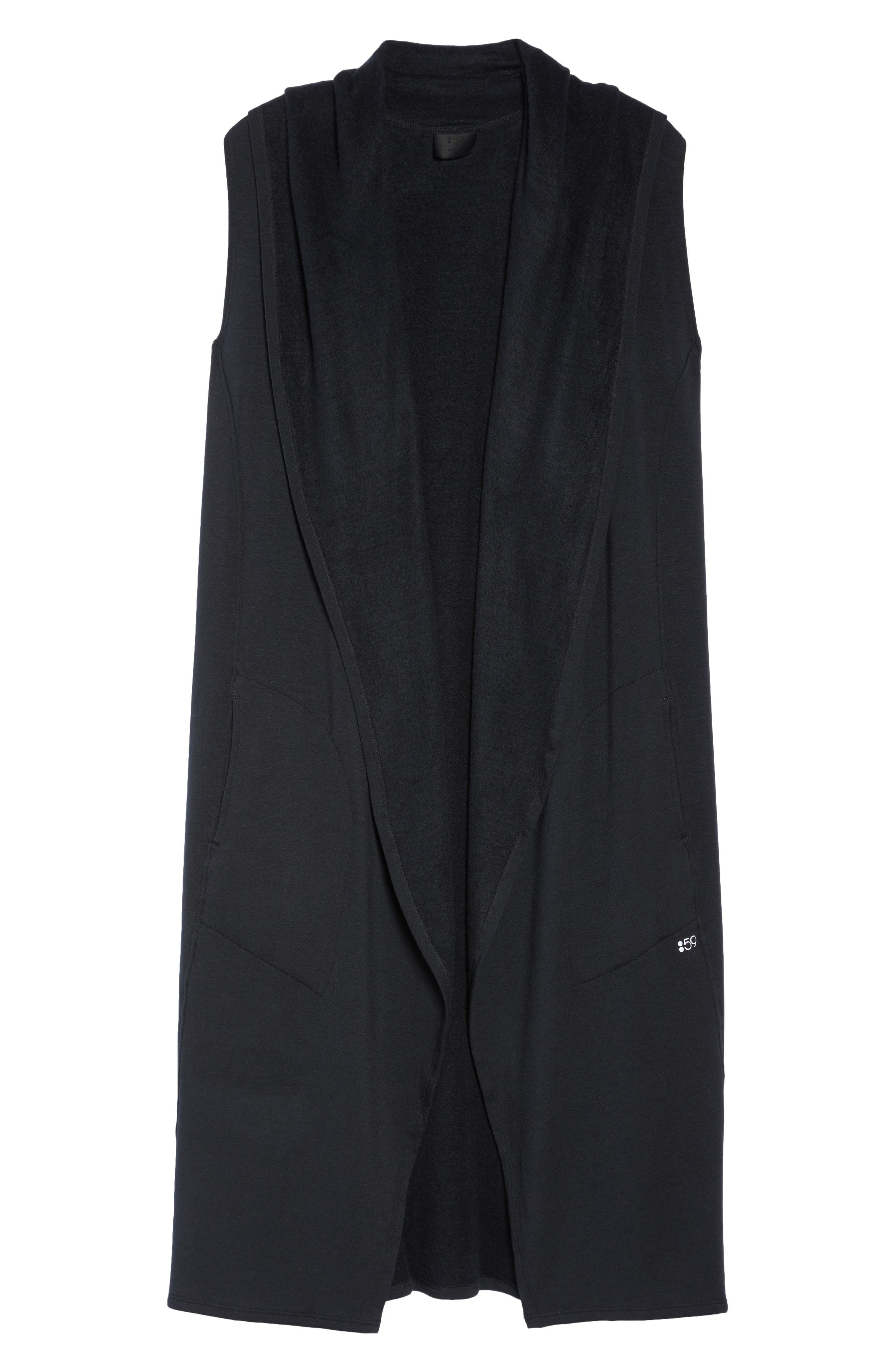 Hooded Full Length Vest,                             Alternate thumbnail 7, color,