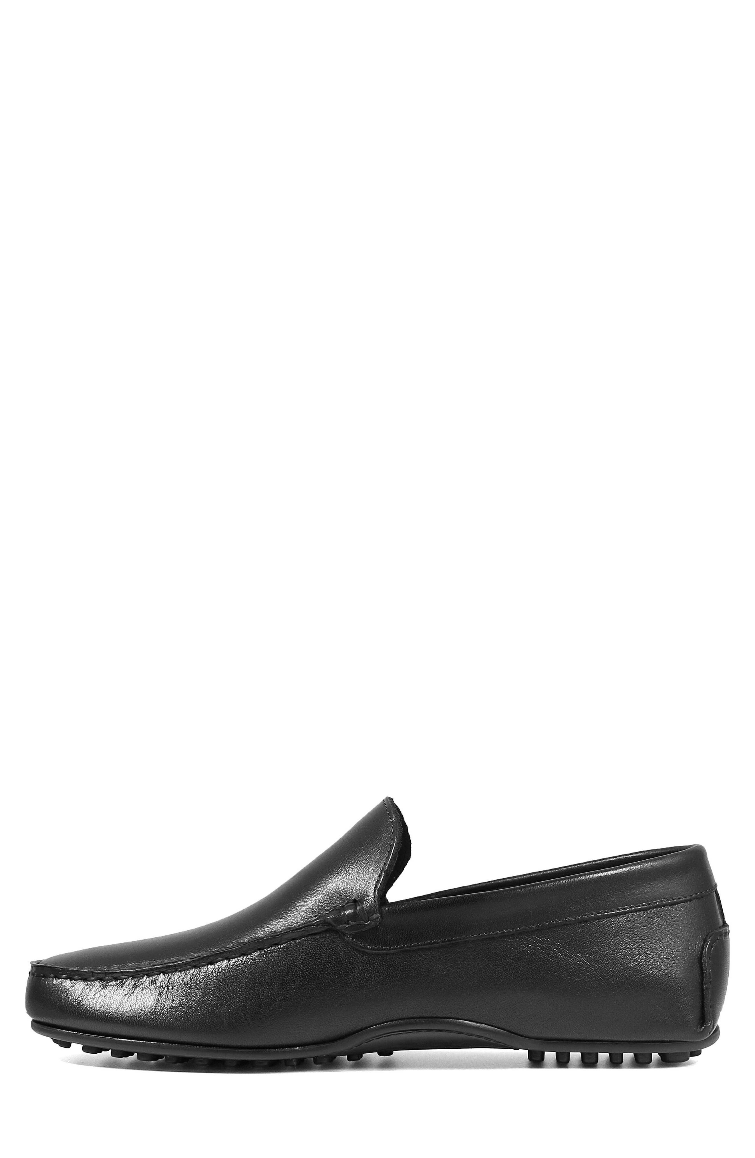 Navono Driving Moccasin,                             Alternate thumbnail 8, color,                             BLACK LEATHER