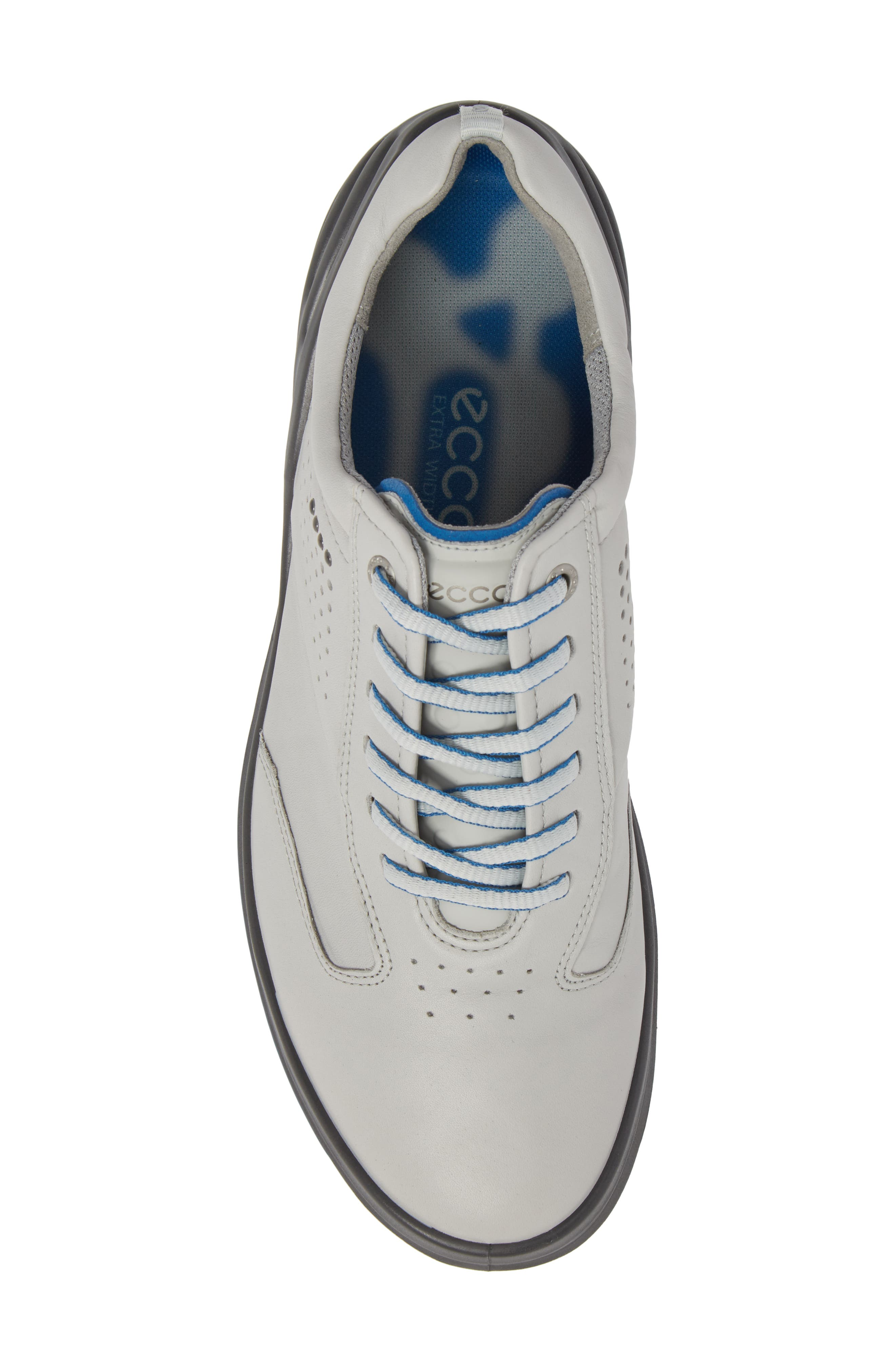 Cage Pro Golf Shoe,                             Alternate thumbnail 5, color,                             CONCRETE/ BERMUDA BLUE LEATHER