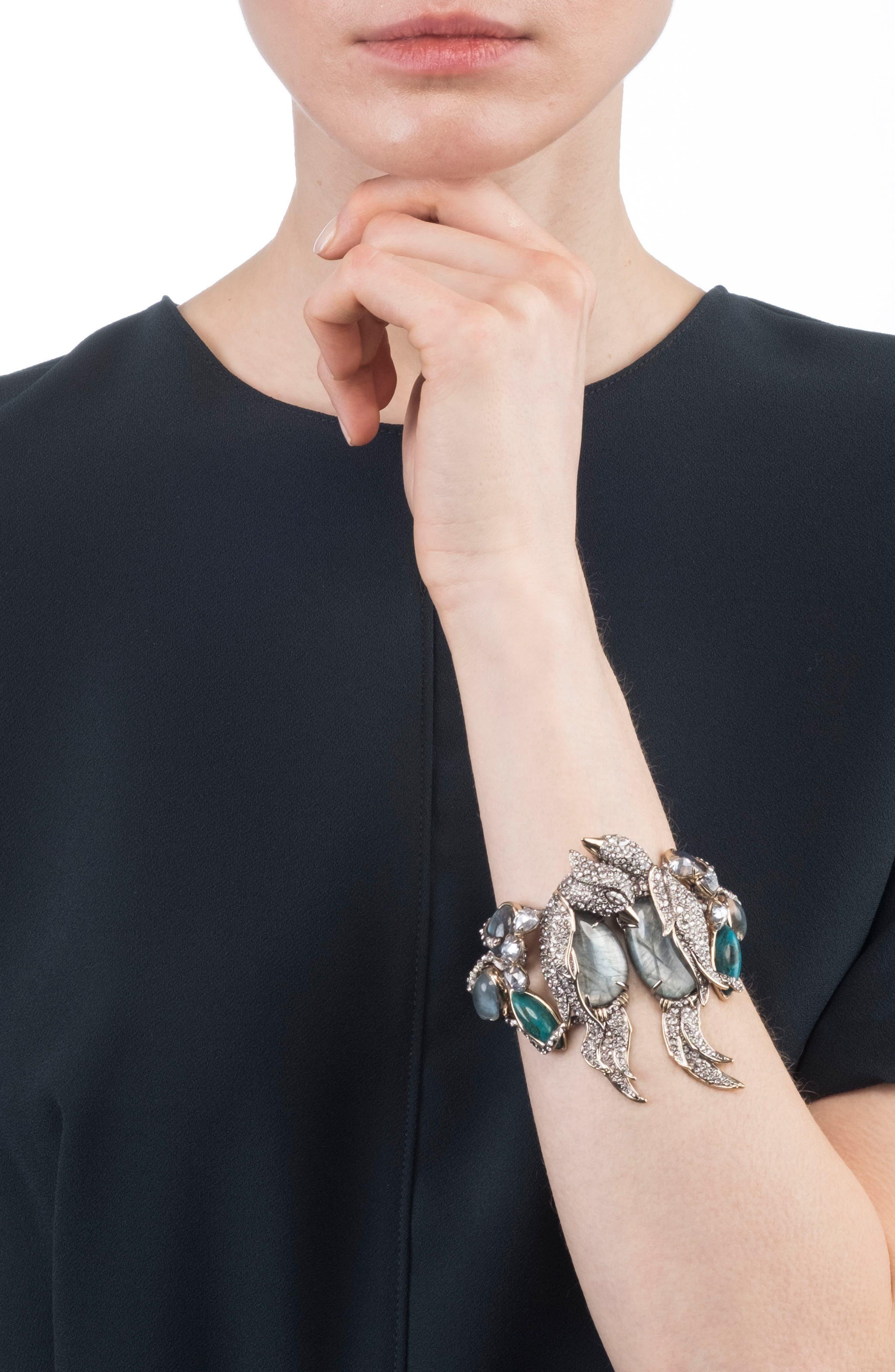Lovebird Hinge Bracelet,                             Alternate thumbnail 2, color,                             710
