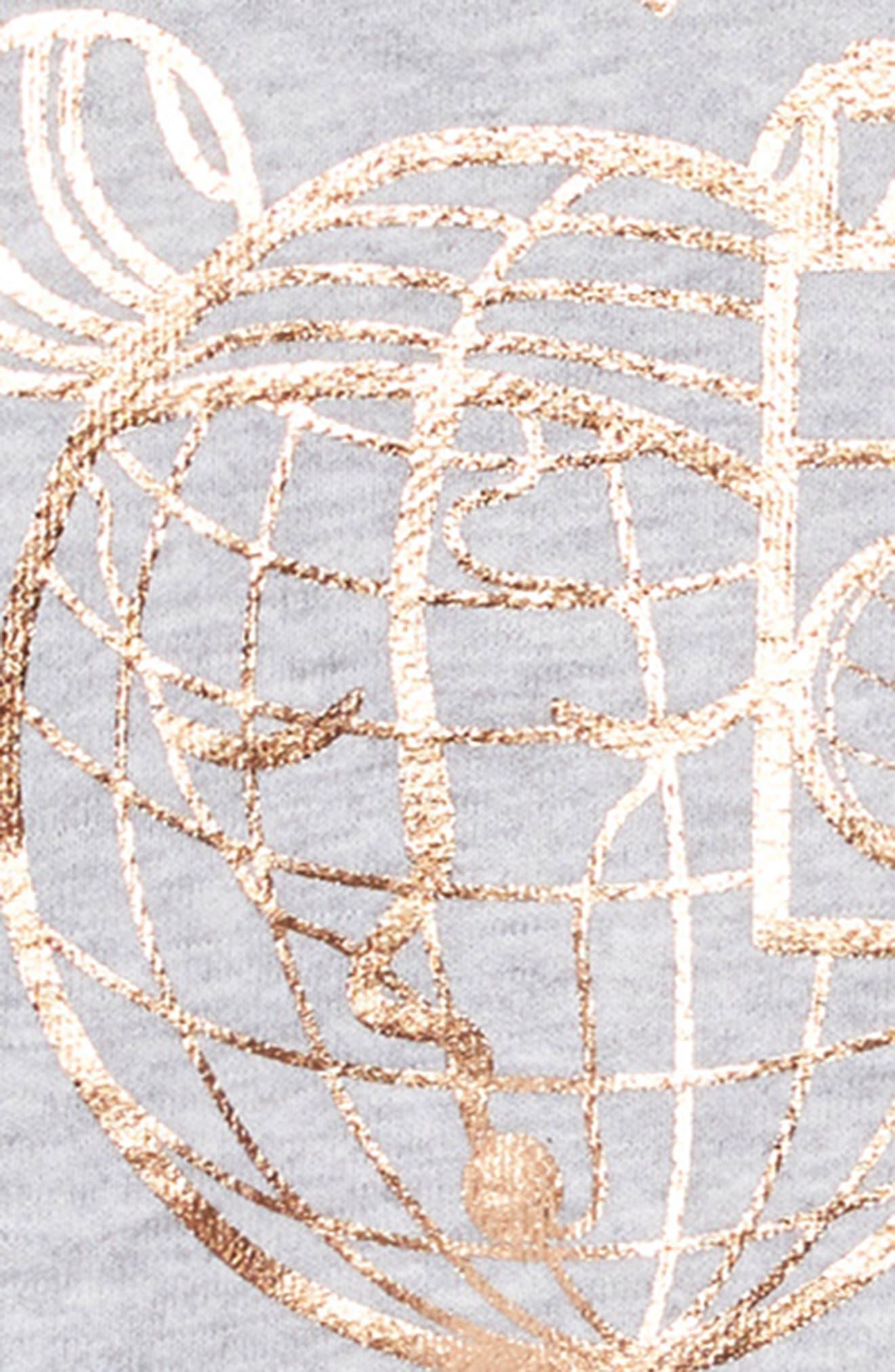 Metallic Graphic Sweatshirt & Dress Set,                             Alternate thumbnail 4, color,                             COPPER