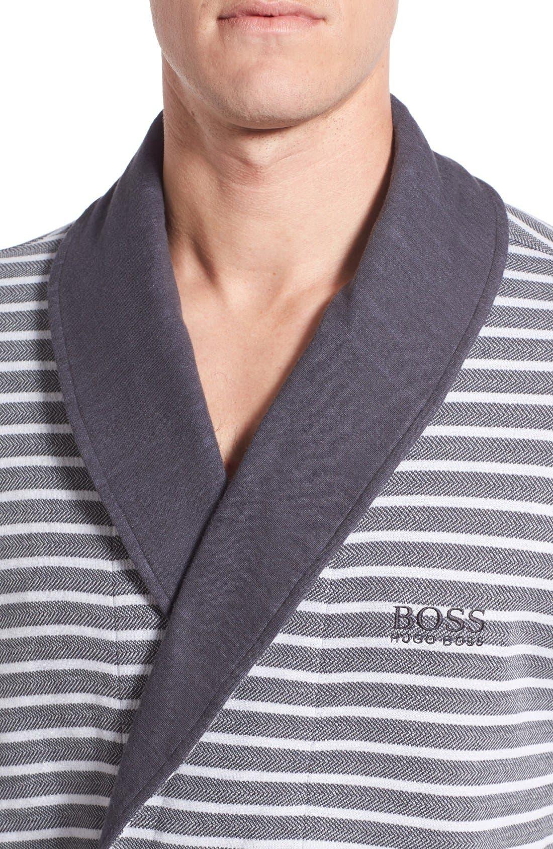 'Maritime' Shawl Collar Robe,                             Alternate thumbnail 3, color,                             407
