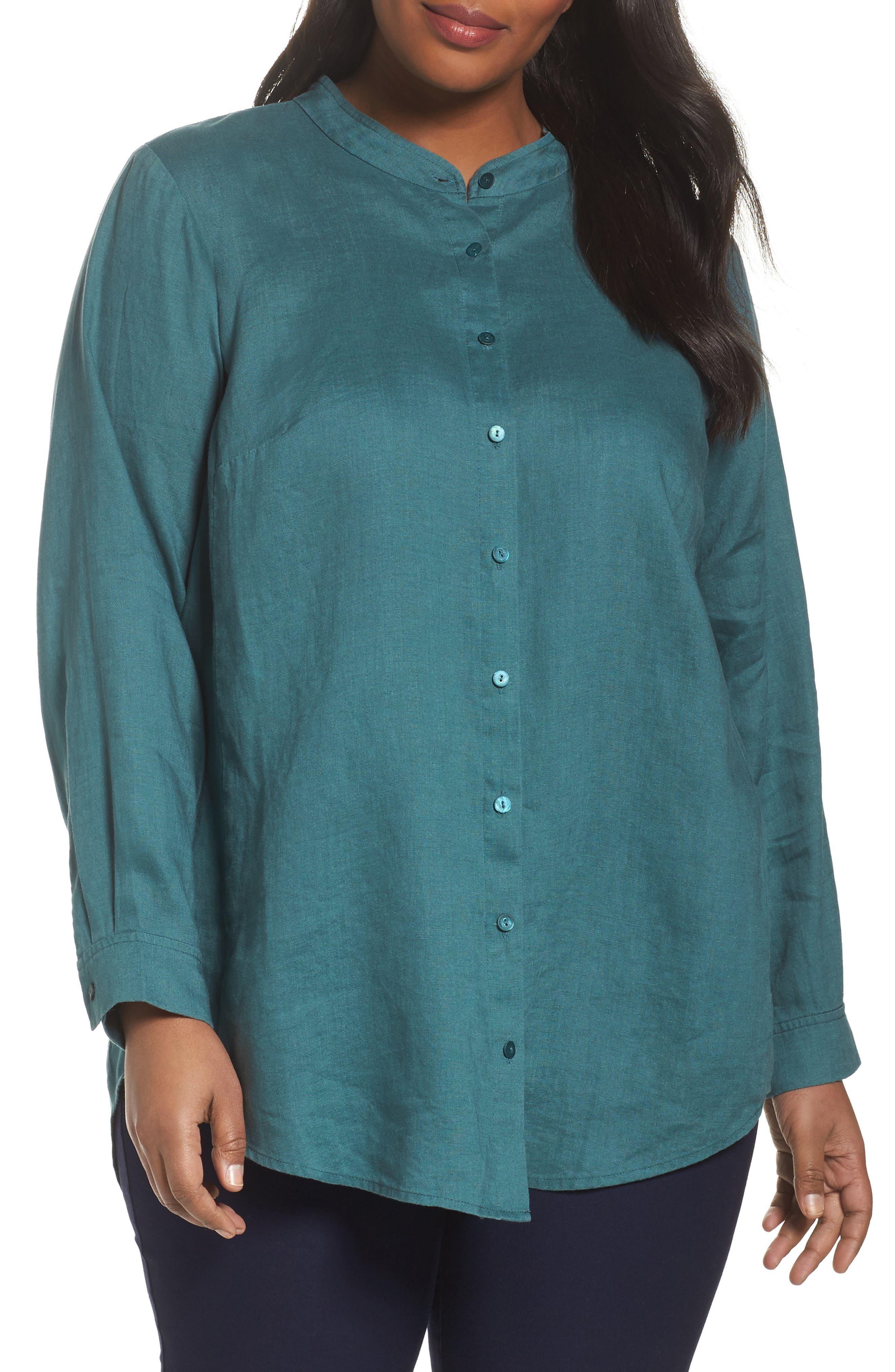 Organic Linen Tunic Shirt,                             Main thumbnail 2, color,