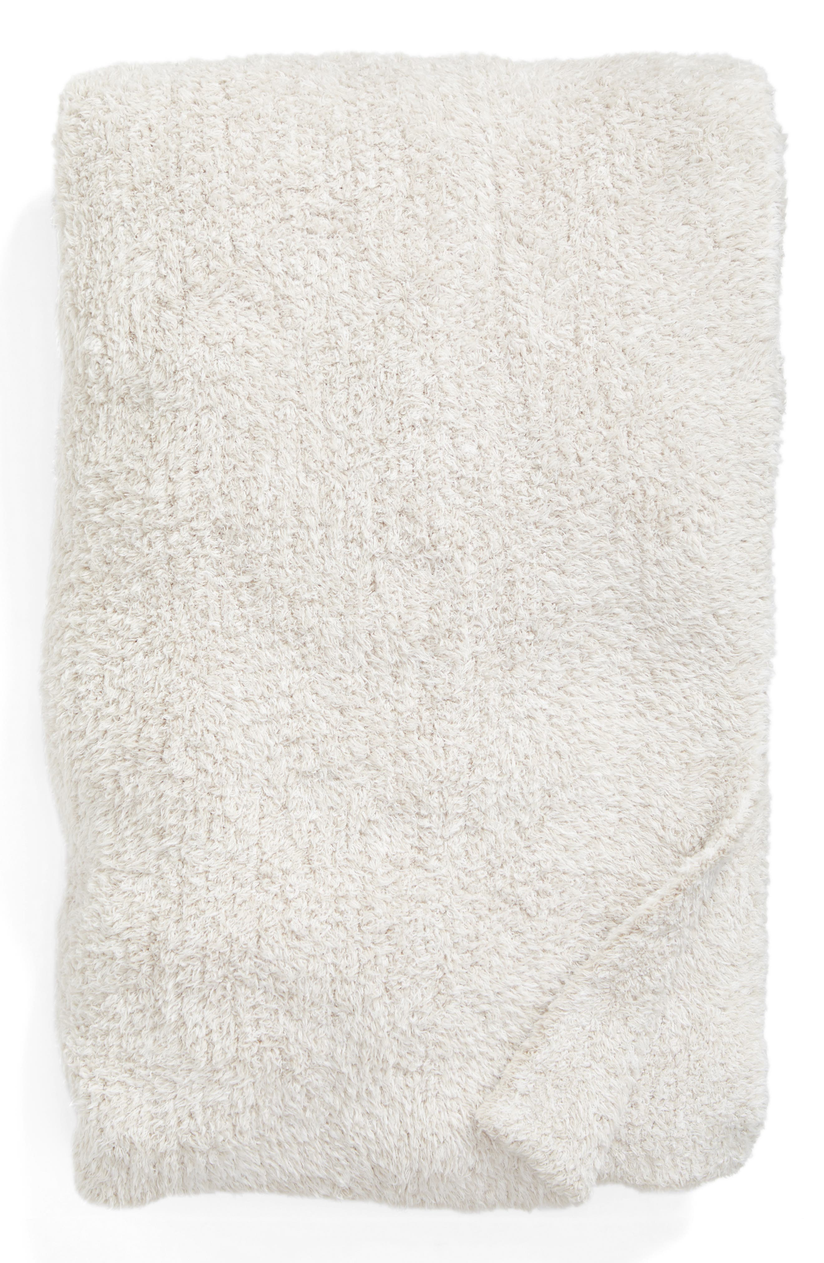 Cozychic<sup>®</sup> Heathered Throw Blanket,                         Main,                         color, STONE/ WHITE