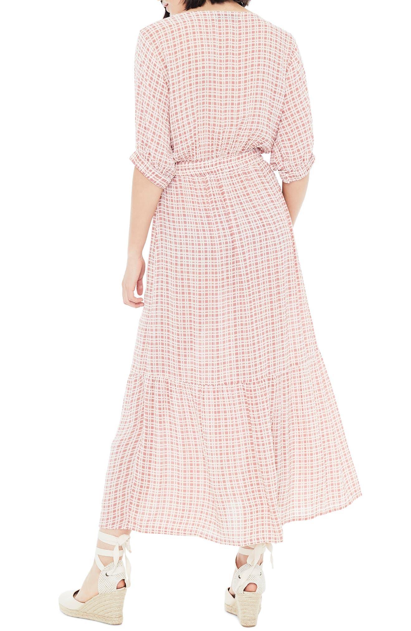 FAITHFULL THE BRAND,                             Maple Midi Dress,                             Alternate thumbnail 2, color,                             EMILINAH CHECK PRINT