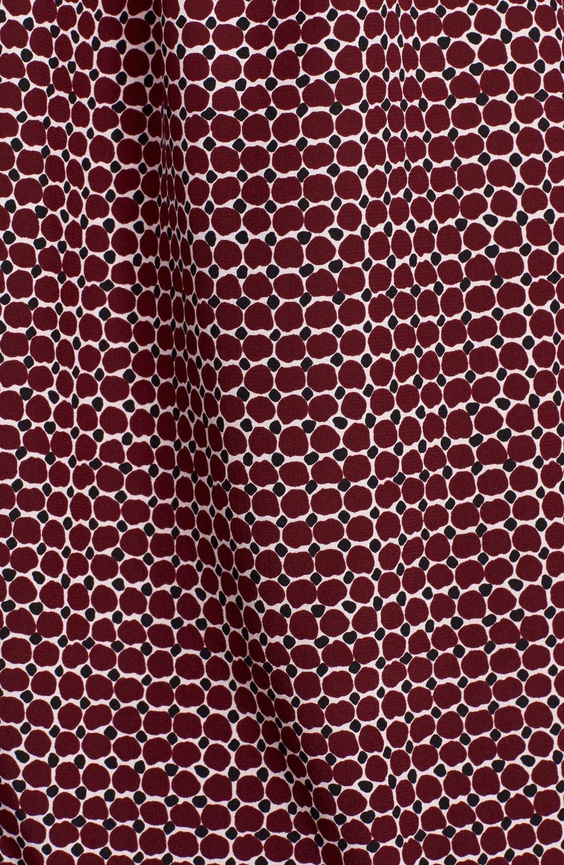 'parker dot' print silk bow blouse,                             Alternate thumbnail 2, color,                             619