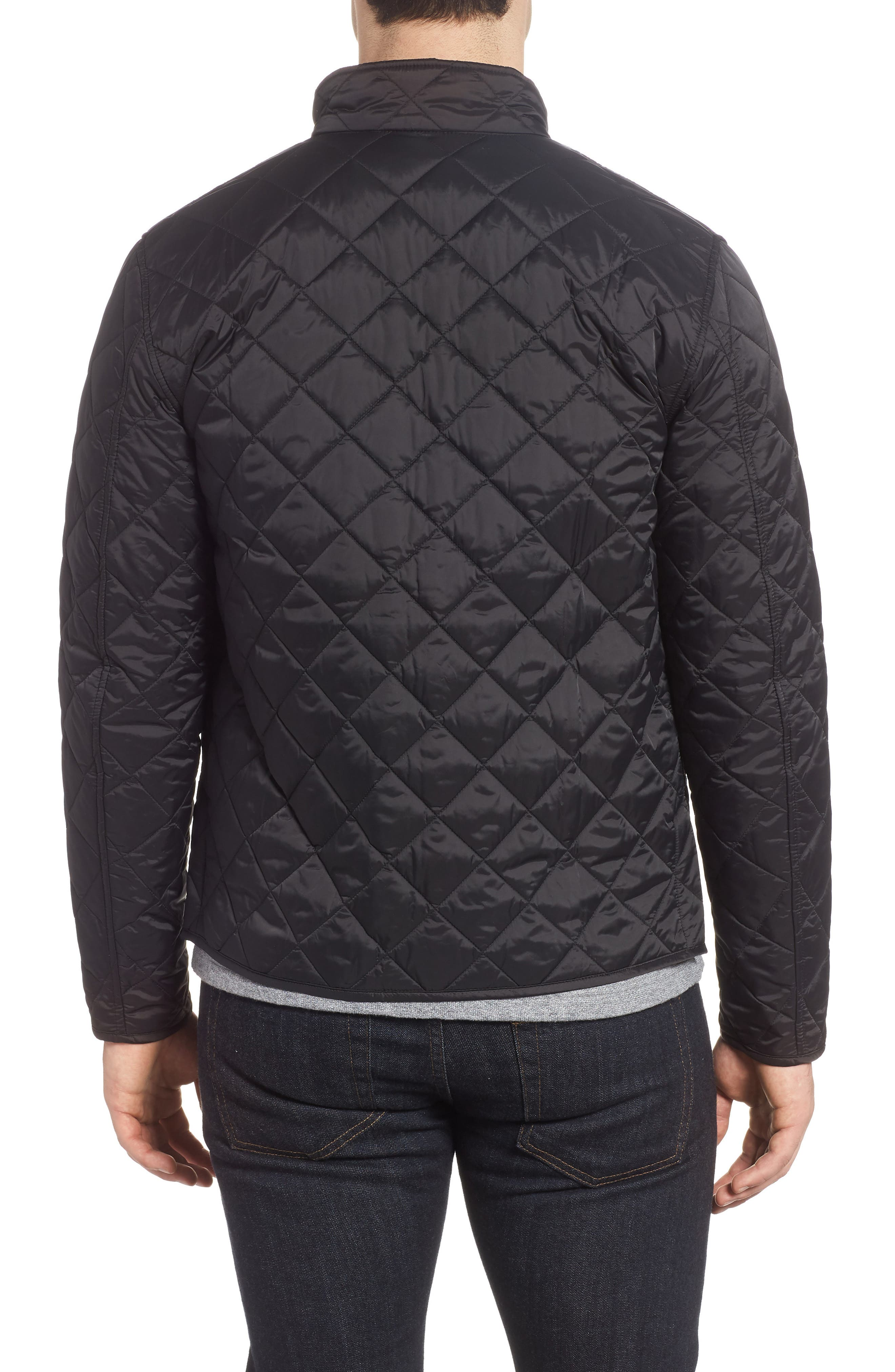 BARBOUR,                             Gear Quilted Jacket,                             Alternate thumbnail 2, color,                             BLACK