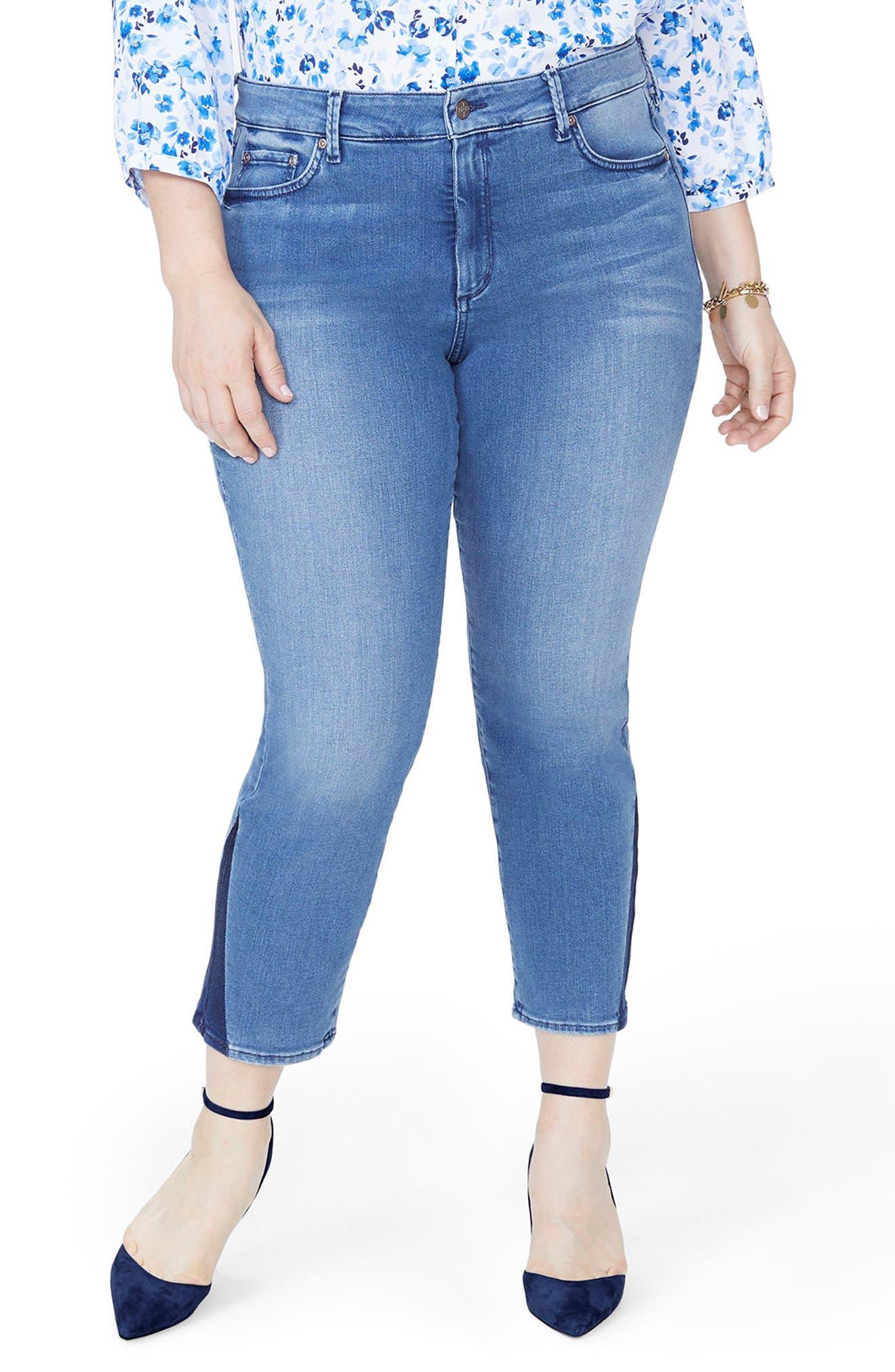 Sheri Slim Shadow Ankle Jeans,                             Main thumbnail 1, color,