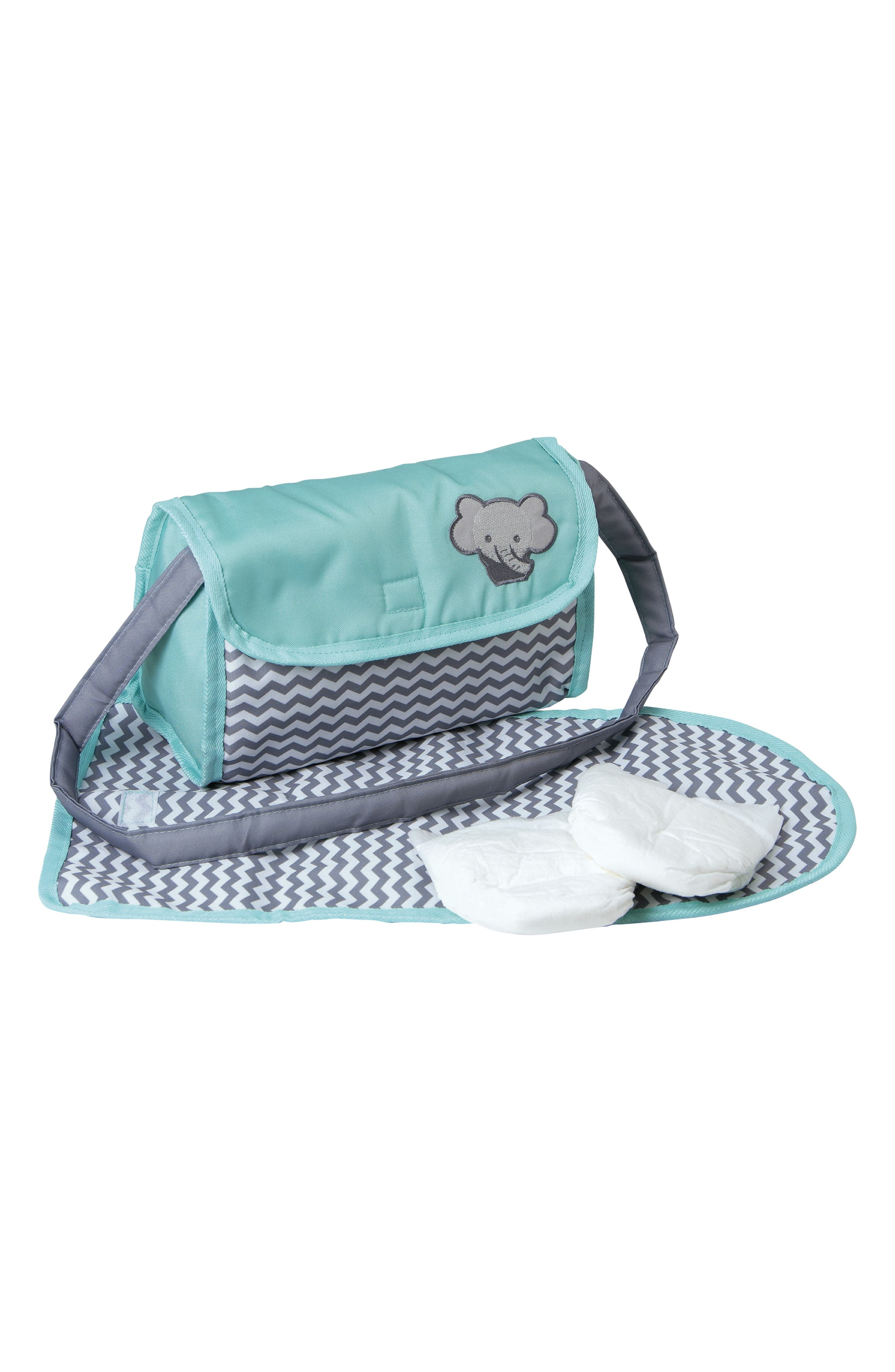 Girls Adora Chevron Print Doll Diaper Bag