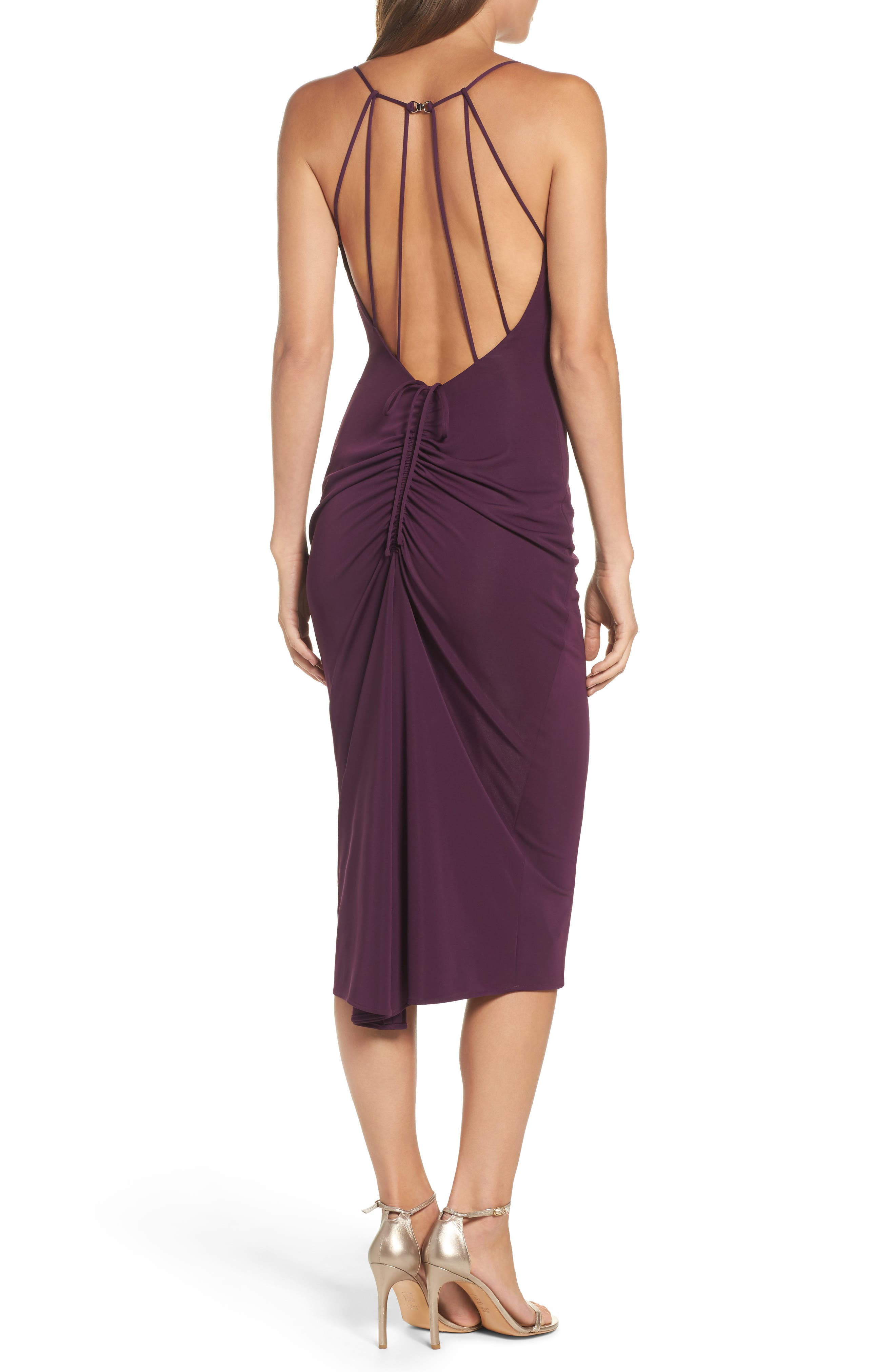 Cowl Neck Midi Dress,                             Alternate thumbnail 2, color,                             935