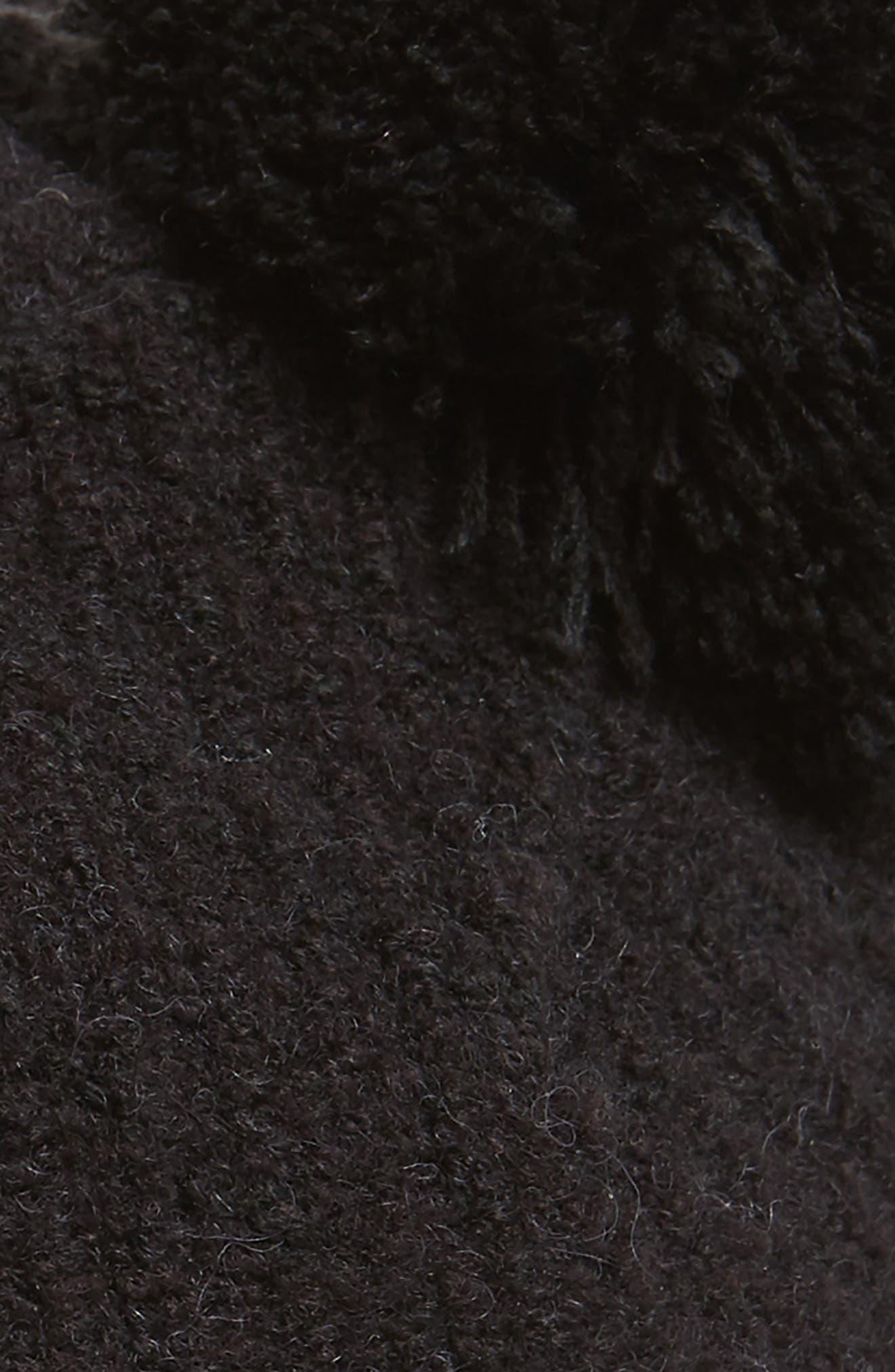Knit Pom Beret,                             Alternate thumbnail 2, color,                             BLACK