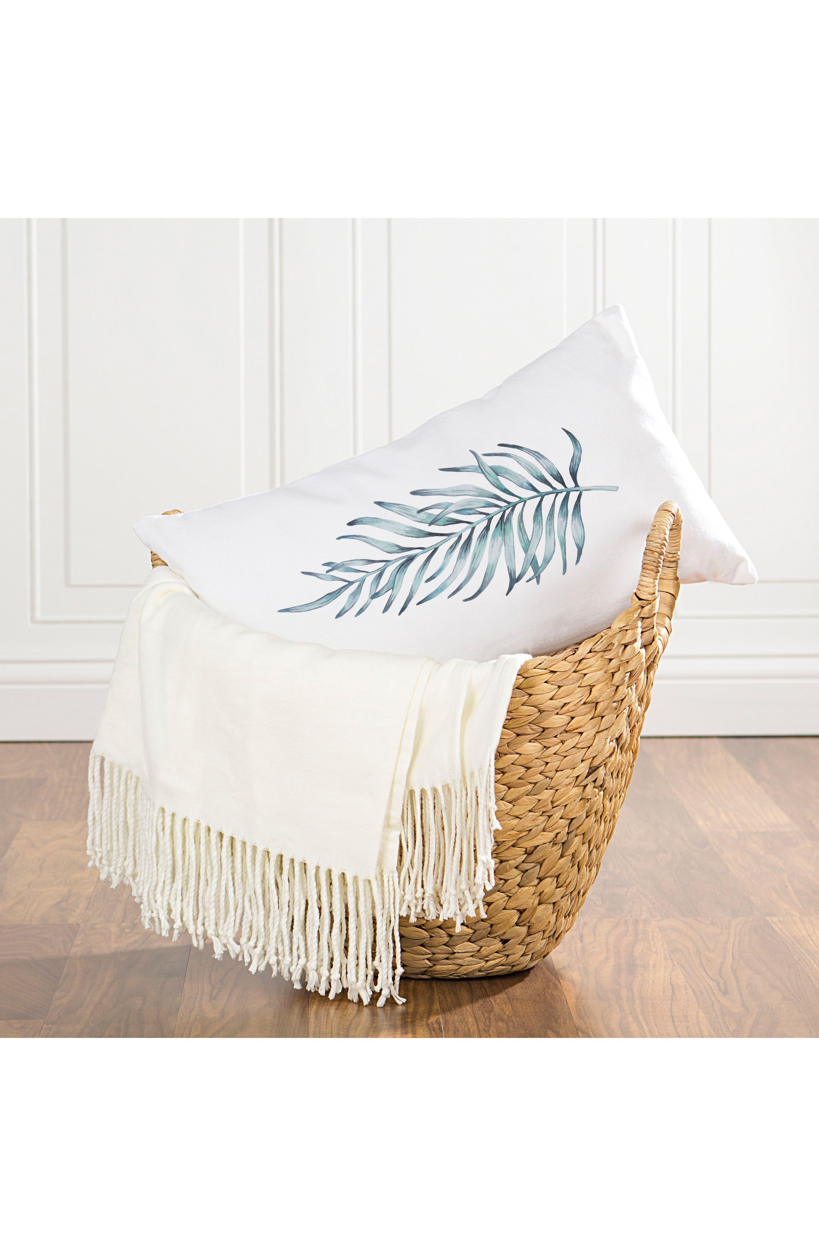 Palm Leaf Lumbar Accent Pillow,                             Alternate thumbnail 2, color,                             300