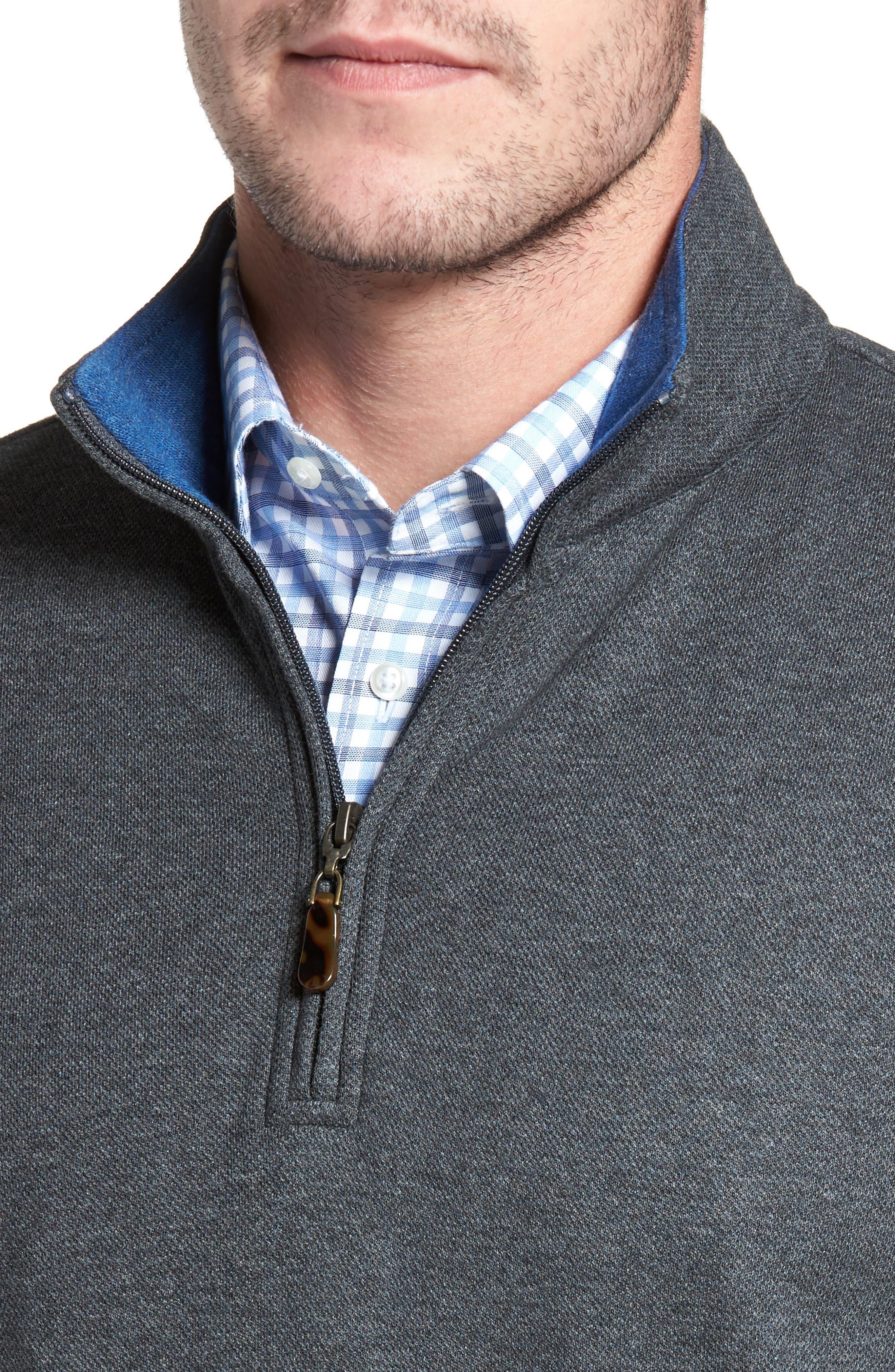 Mélange Quarter Zip Pullover,                             Alternate thumbnail 10, color,
