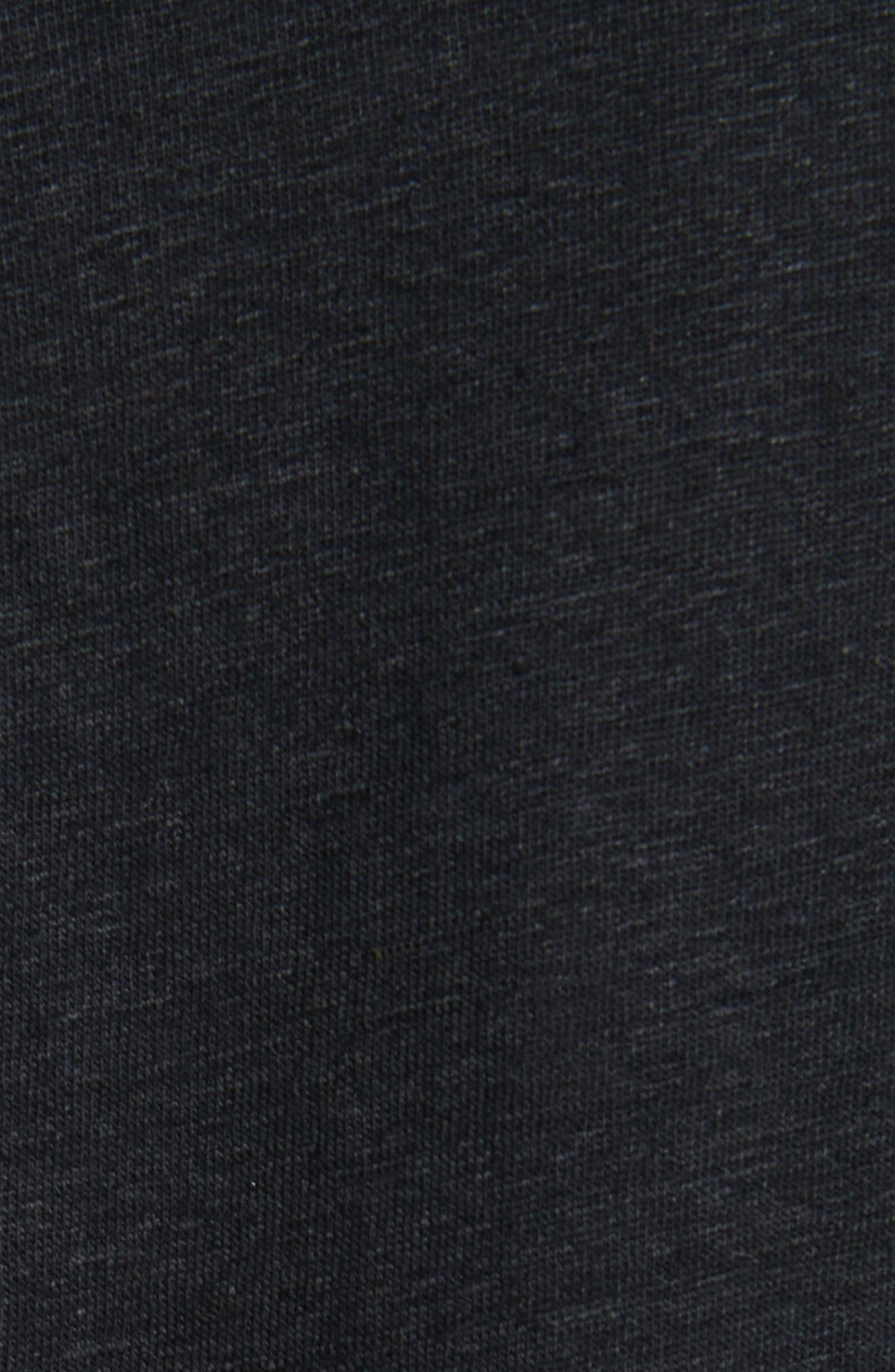 Stretch Linen Blazer,                             Alternate thumbnail 6, color,                             NOIR