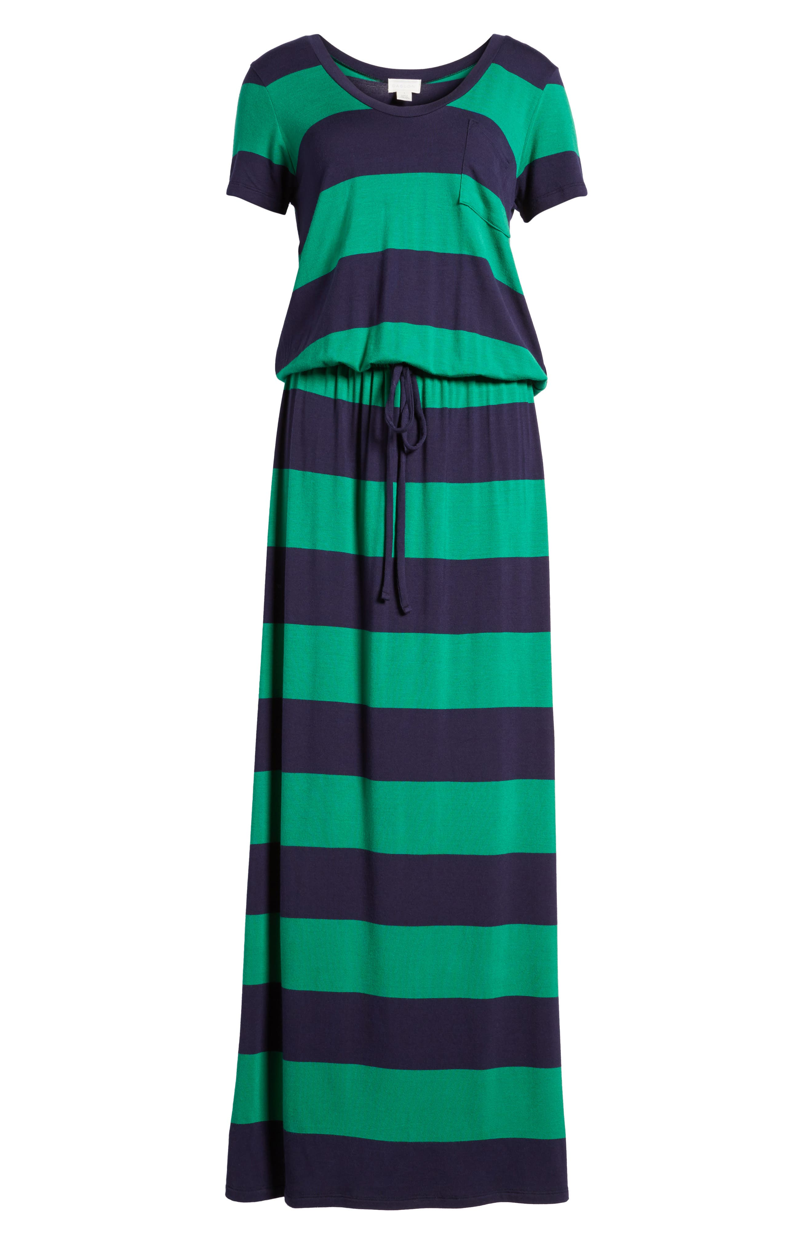 Drawstring V-Neck Jersey Maxi Dress,                             Alternate thumbnail 53, color,