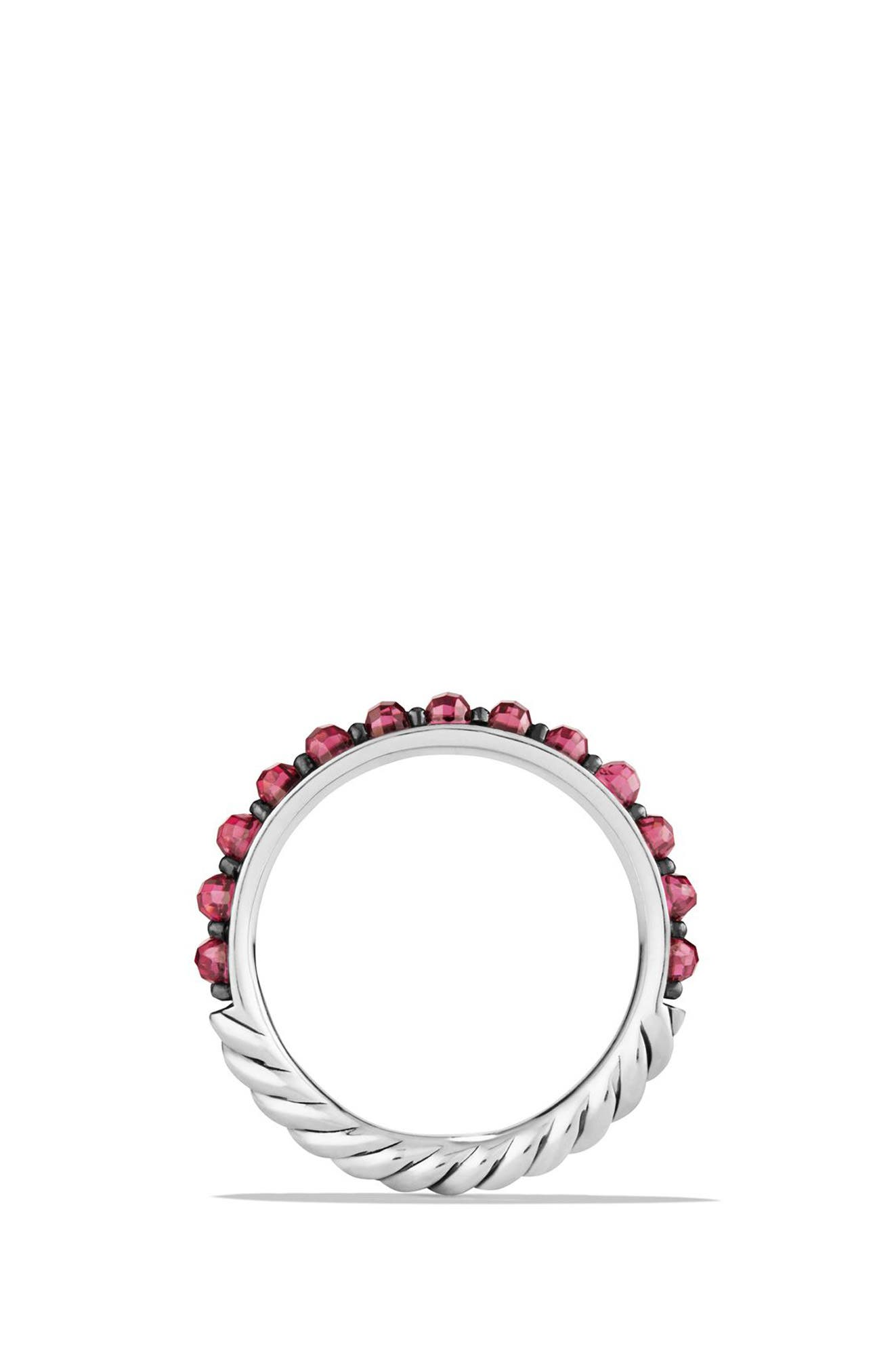 Cable Berries Band Ring,                             Alternate thumbnail 3, color,                             RHODALITE